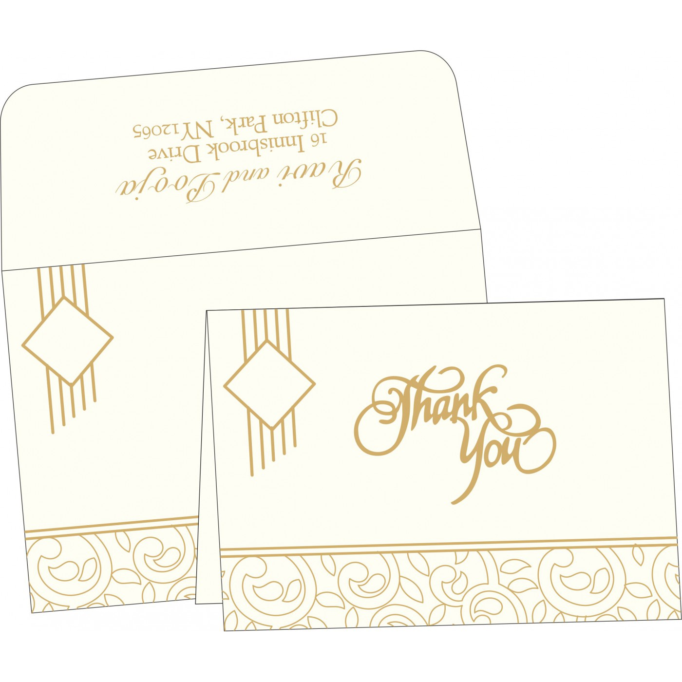 Thank You Cards : CTYC-1438 - IndianWeddingCards