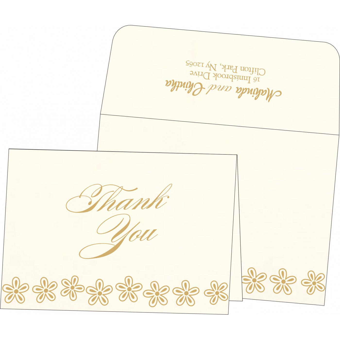 Thank You Cards : CTYC-1439 - IndianWeddingCards
