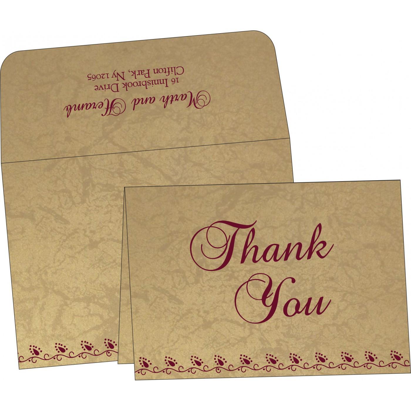Thank You Cards : CTYC-1440 - IndianWeddingCards