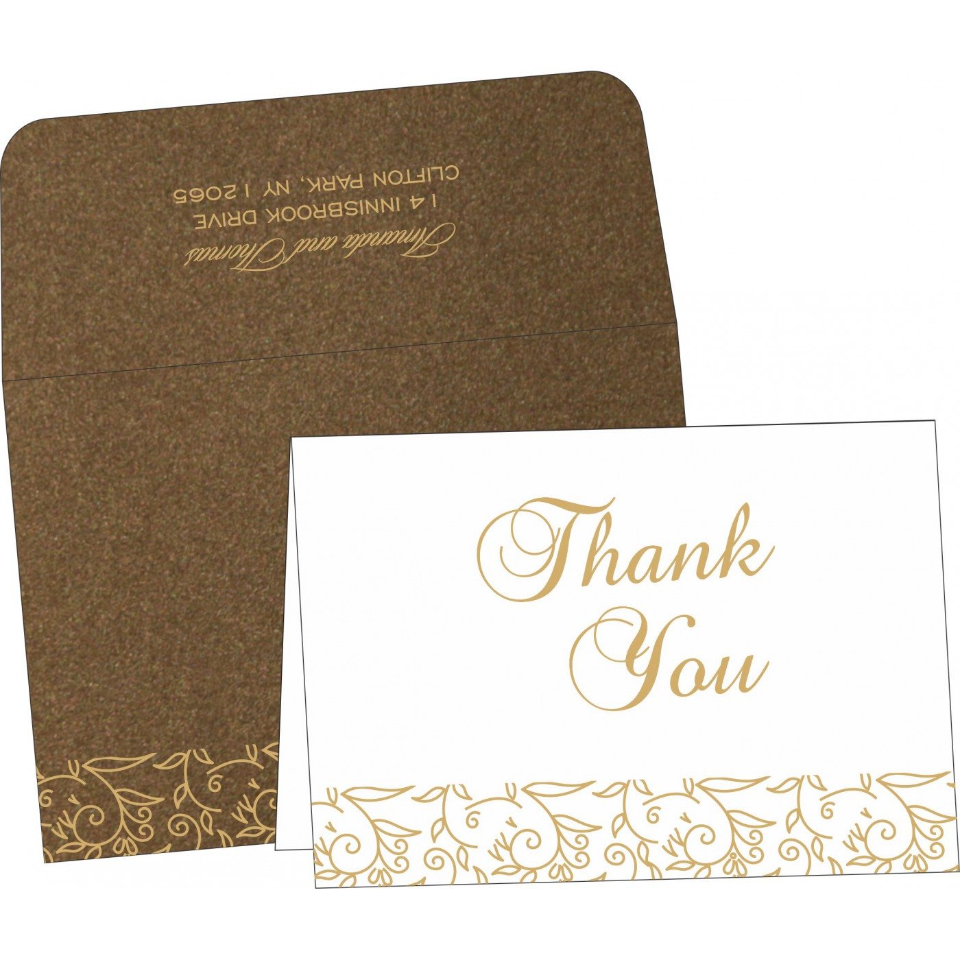 Thank You Cards : CTYC-1447 - IndianWeddingCards