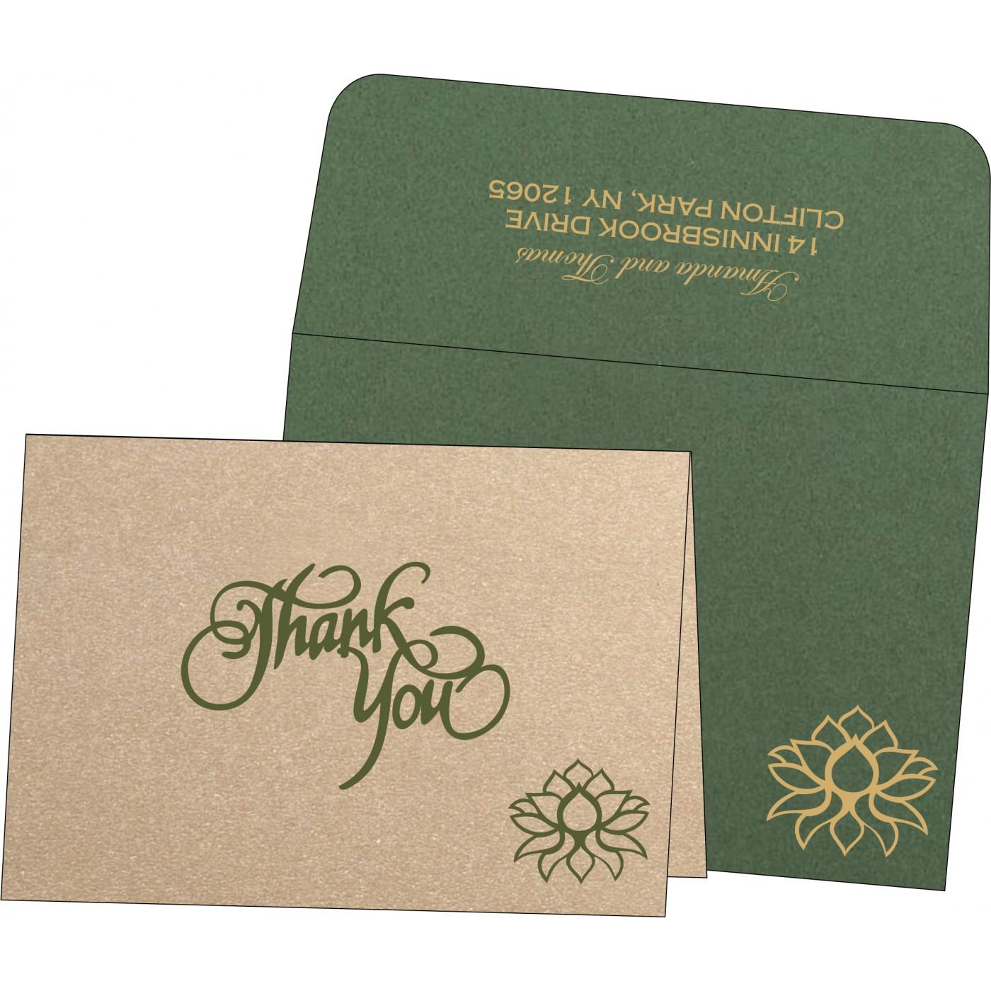 Thank You Cards : CTYC-1449 - IndianWeddingCards