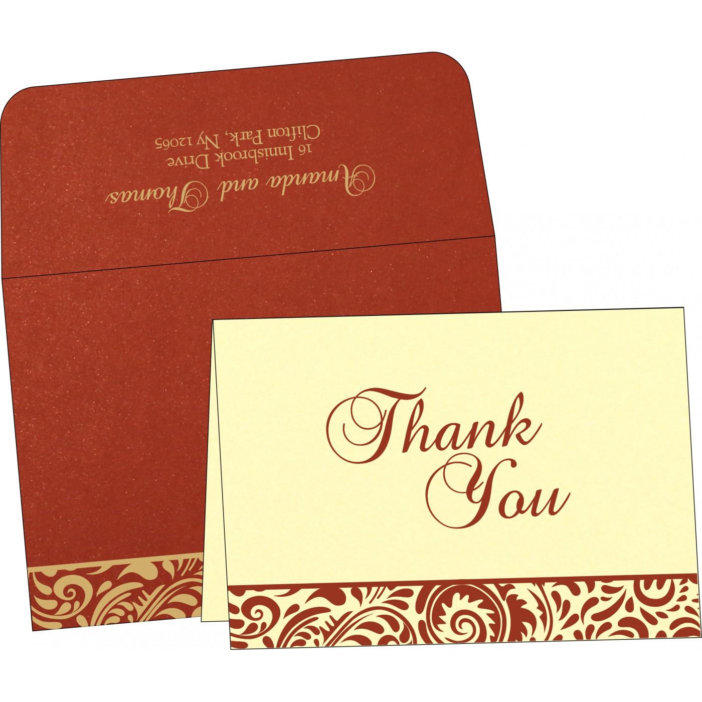 Thank You Cards : CTYC-1471 - IndianWeddingCards