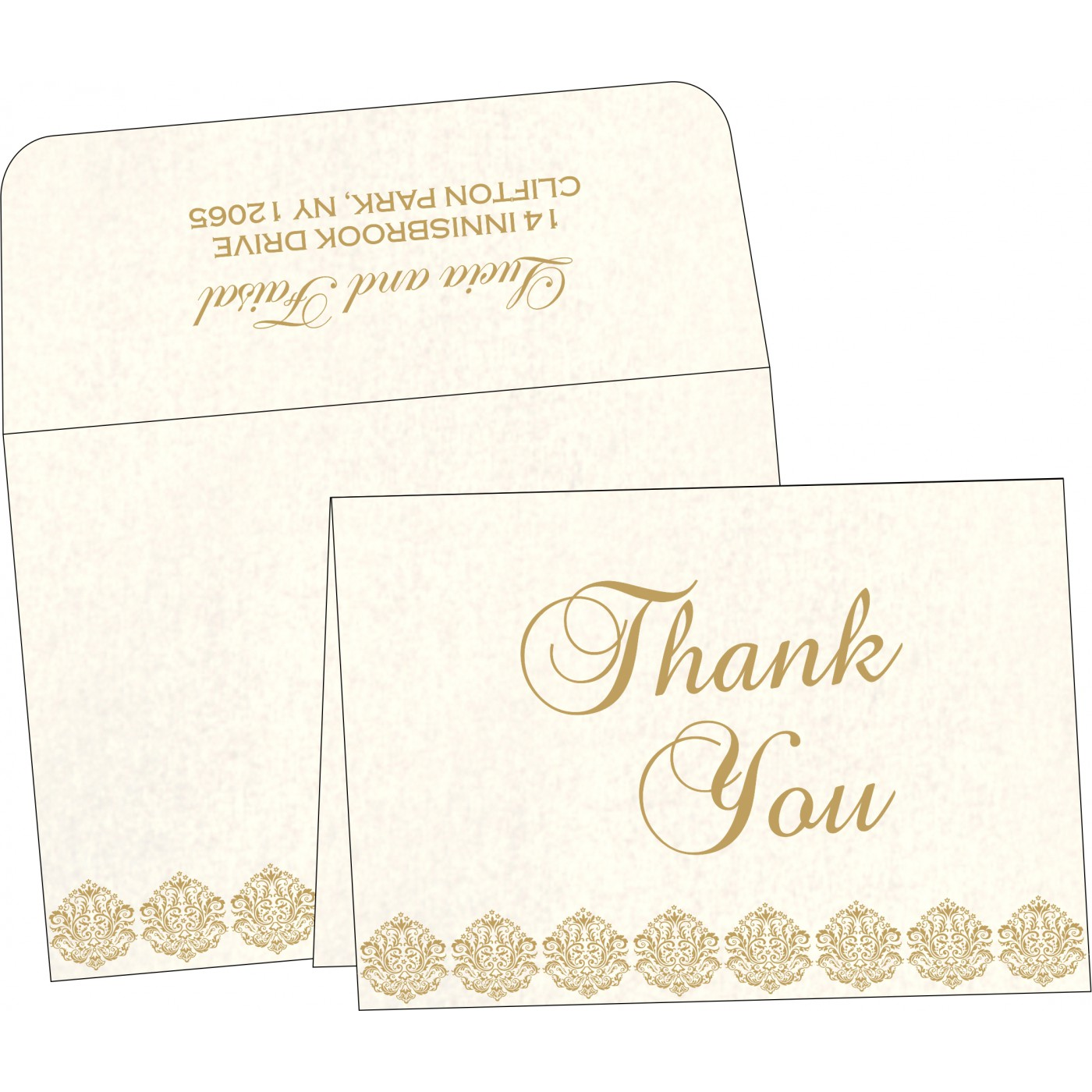 Thank You Cards : CTYC-1502 - IndianWeddingCards