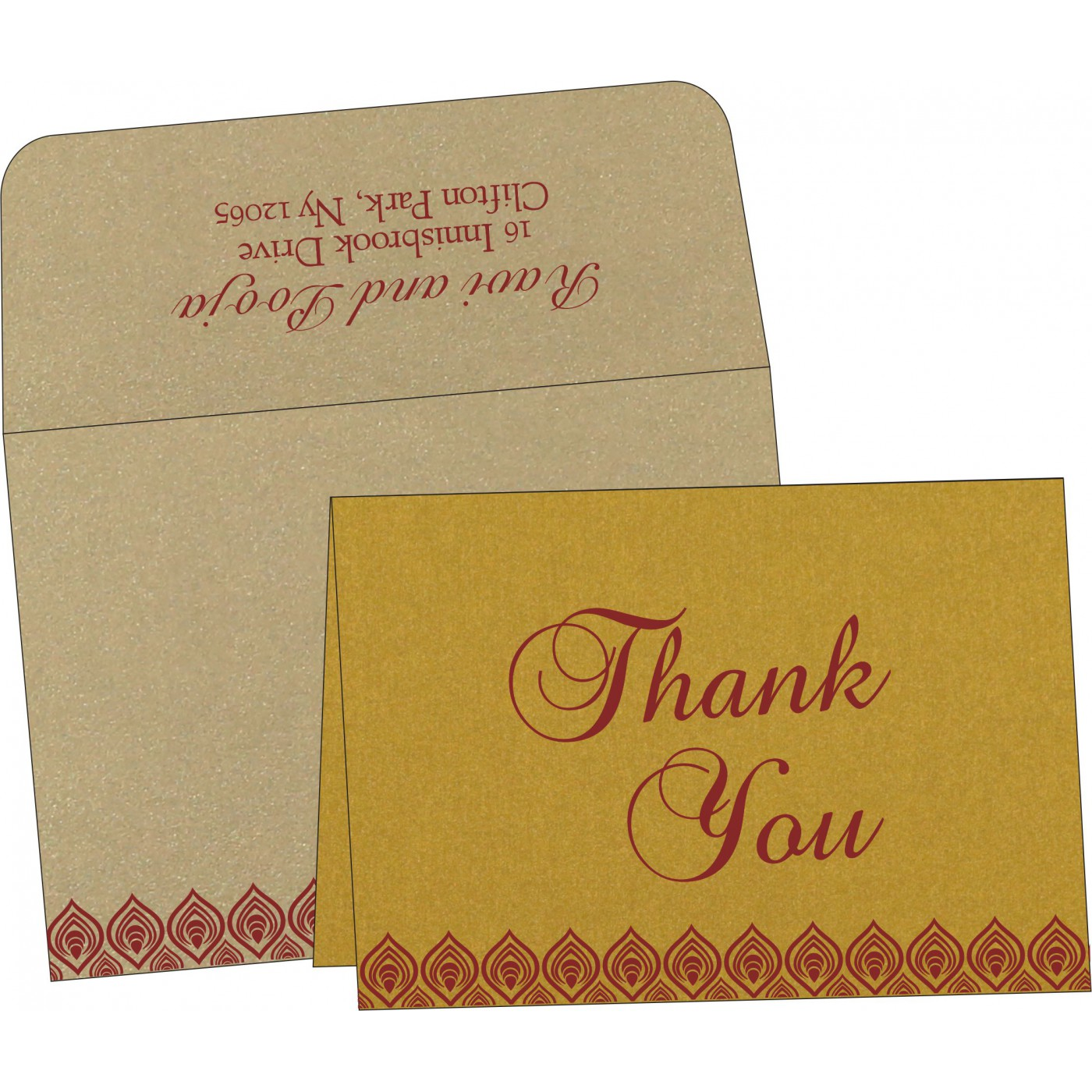 Thank You Cards : CTYC-1506 - IndianWeddingCards