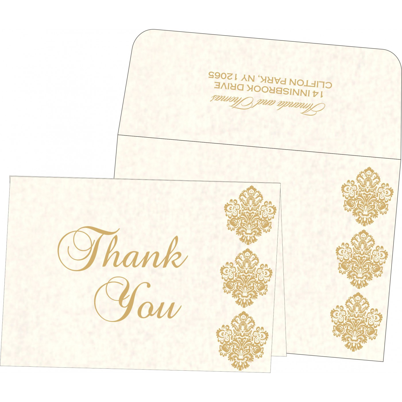 Thank You Cards : CTYC-1508 - IndianWeddingCards