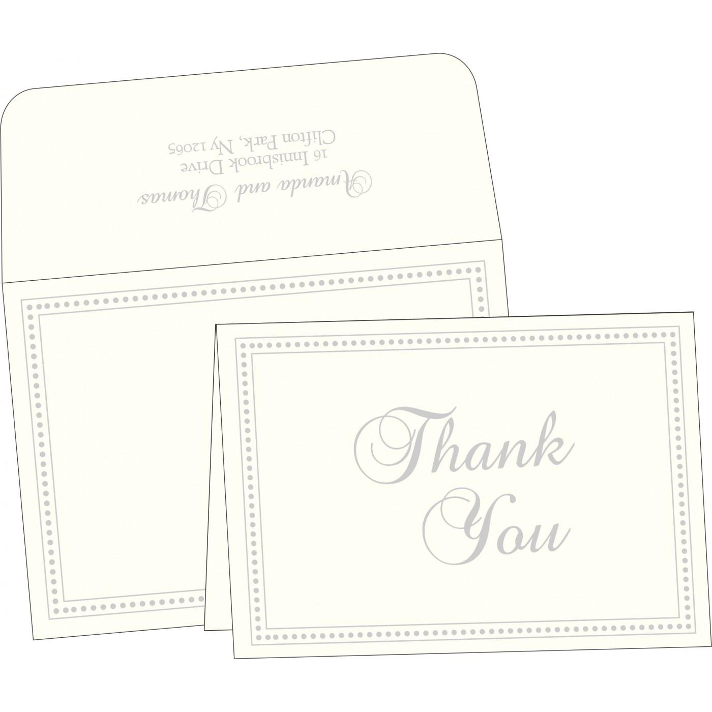 Thank You Cards : CTYC-2015 - IndianWeddingCards
