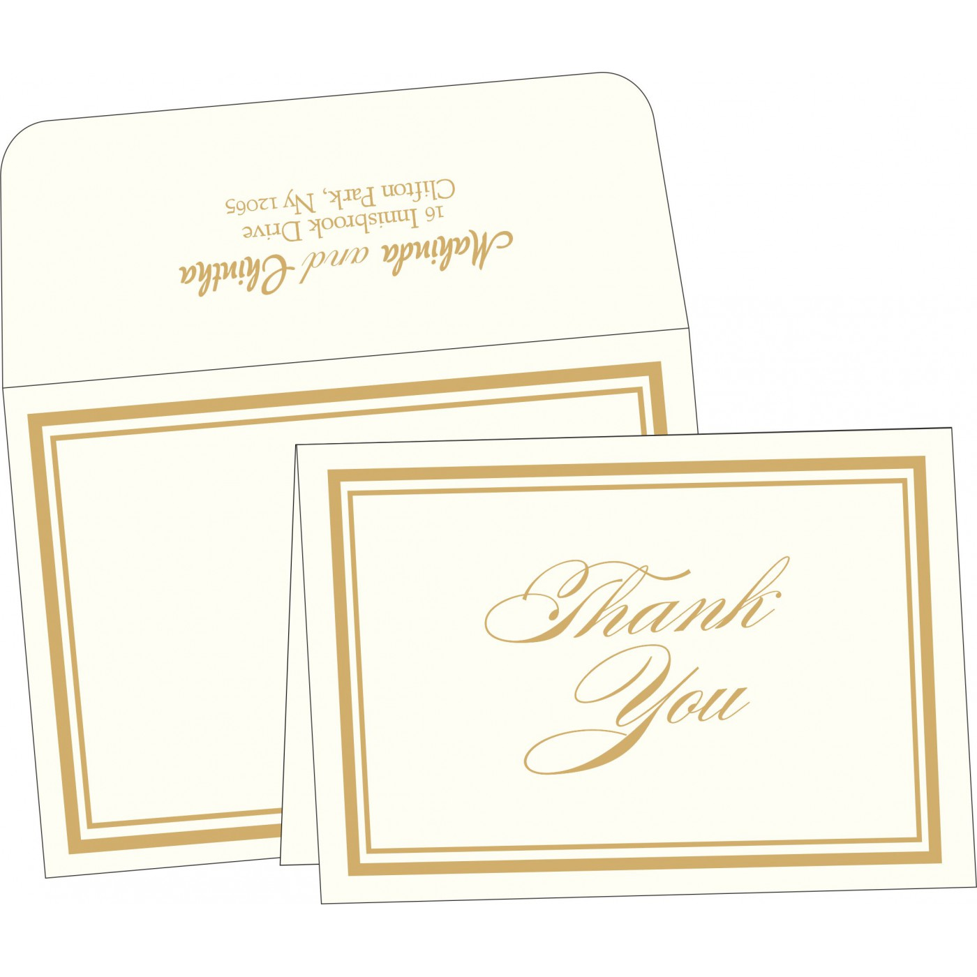Thank You Cards : CTYC-2076 - IndianWeddingCards