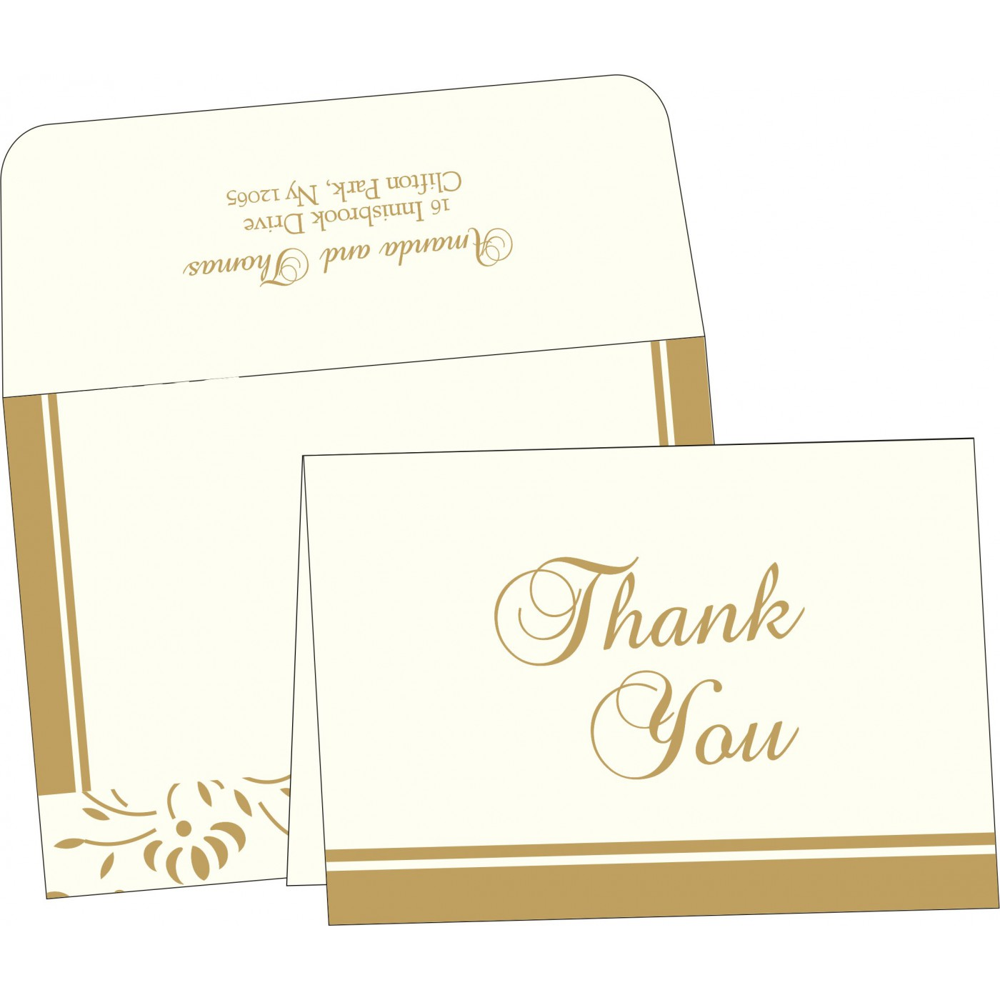 Thank You Cards : CTYC-2153 - IndianWeddingCards