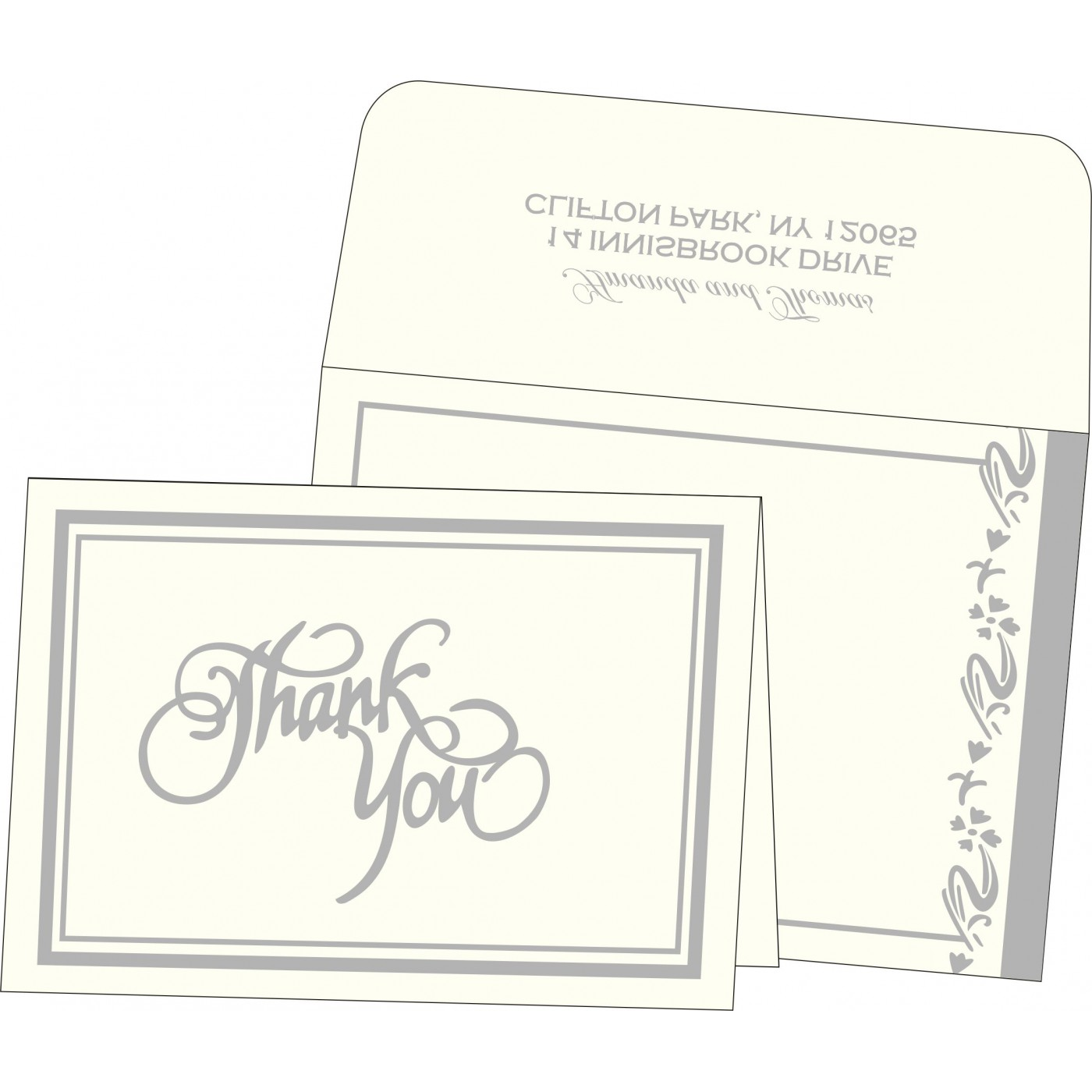 Thank You Cards : CTYC-2154 - IndianWeddingCards