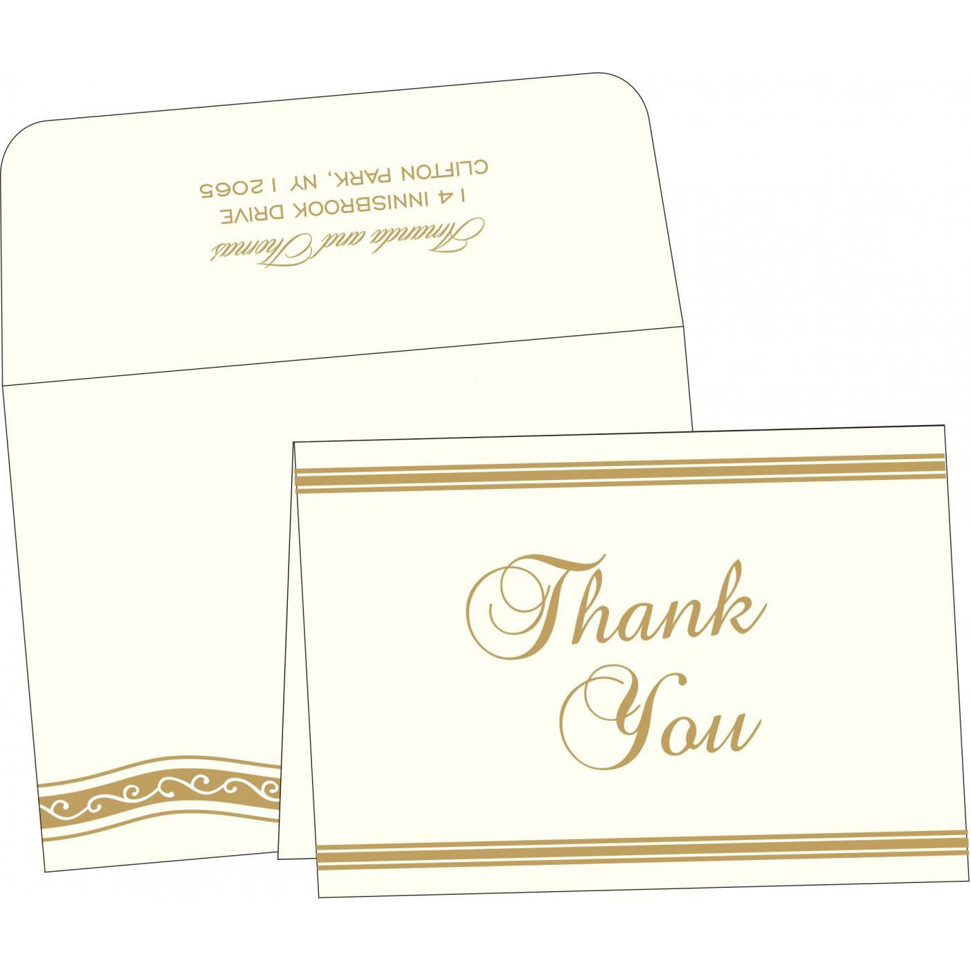 Thank You Cards : CTYC-2169 - IndianWeddingCards