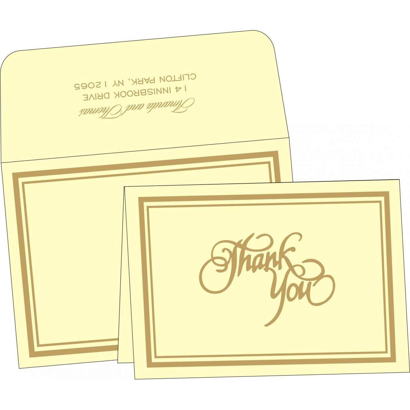 Thank You Cards : CTYC-2191 - IndianWeddingCards