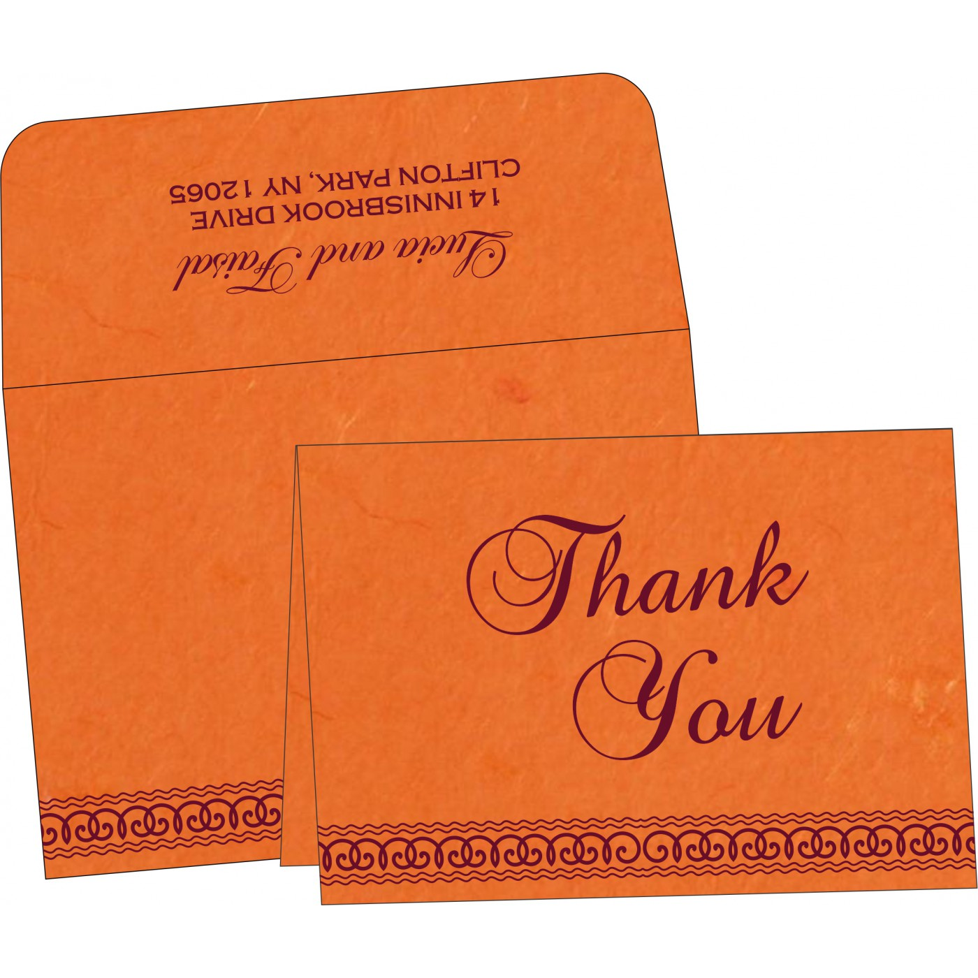 Thank You Cards : CTYC-5002A - IndianWeddingCards