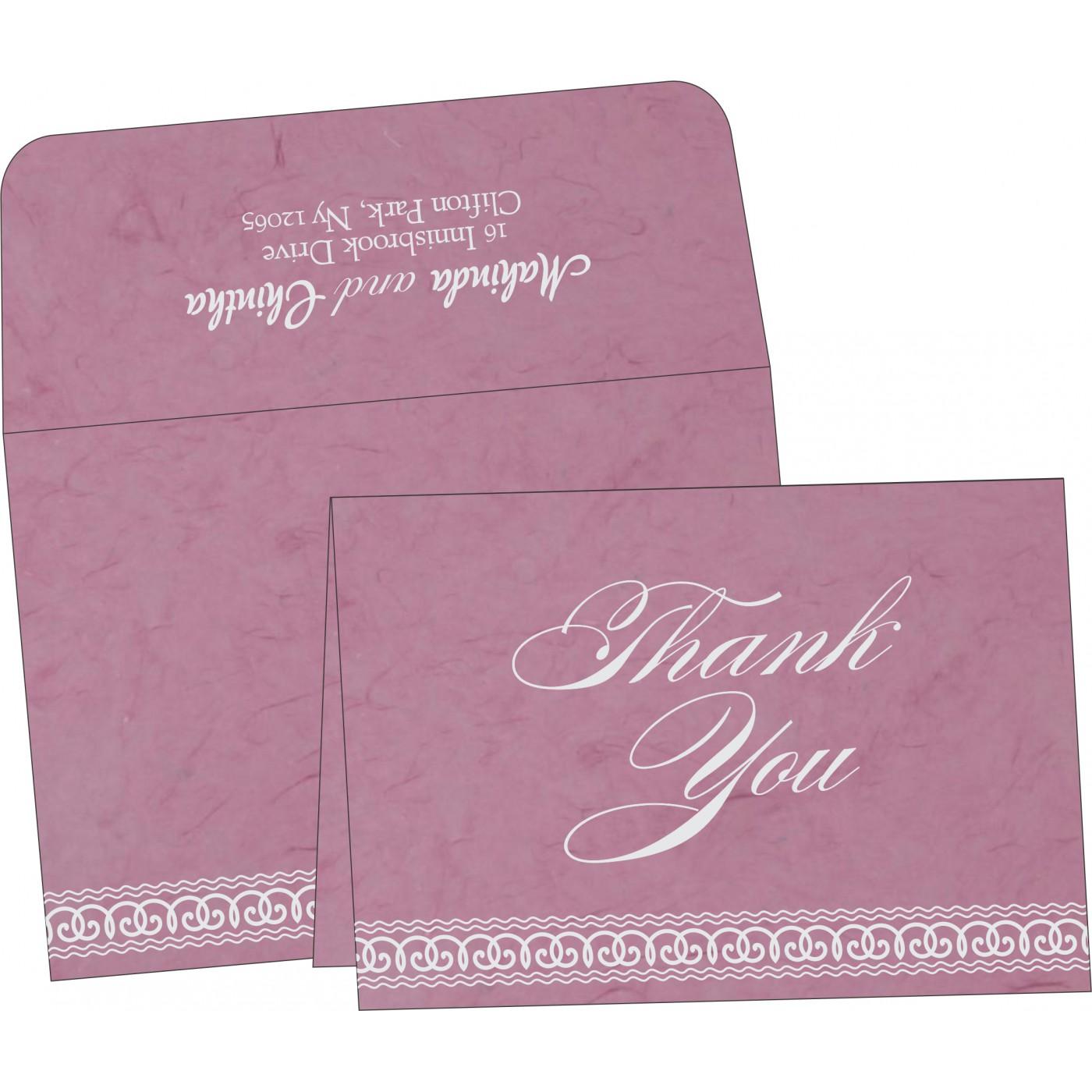 Thank You Cards : CTYC-5002E - IndianWeddingCards