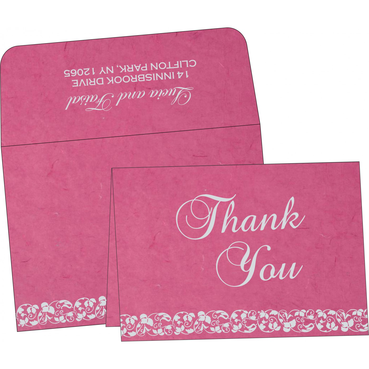 Thank You Cards : CTYC-5006A - IndianWeddingCards