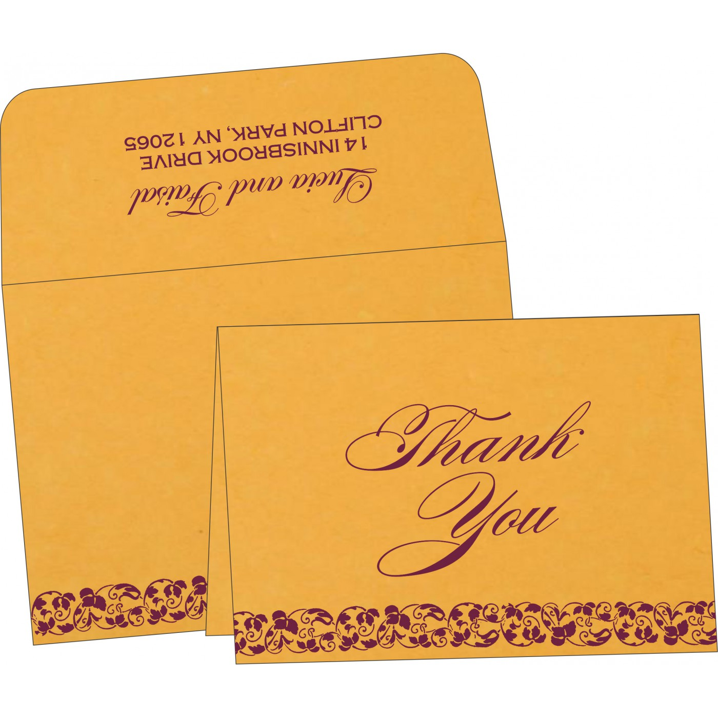 Thank You Cards : CTYC-5006F - IndianWeddingCards