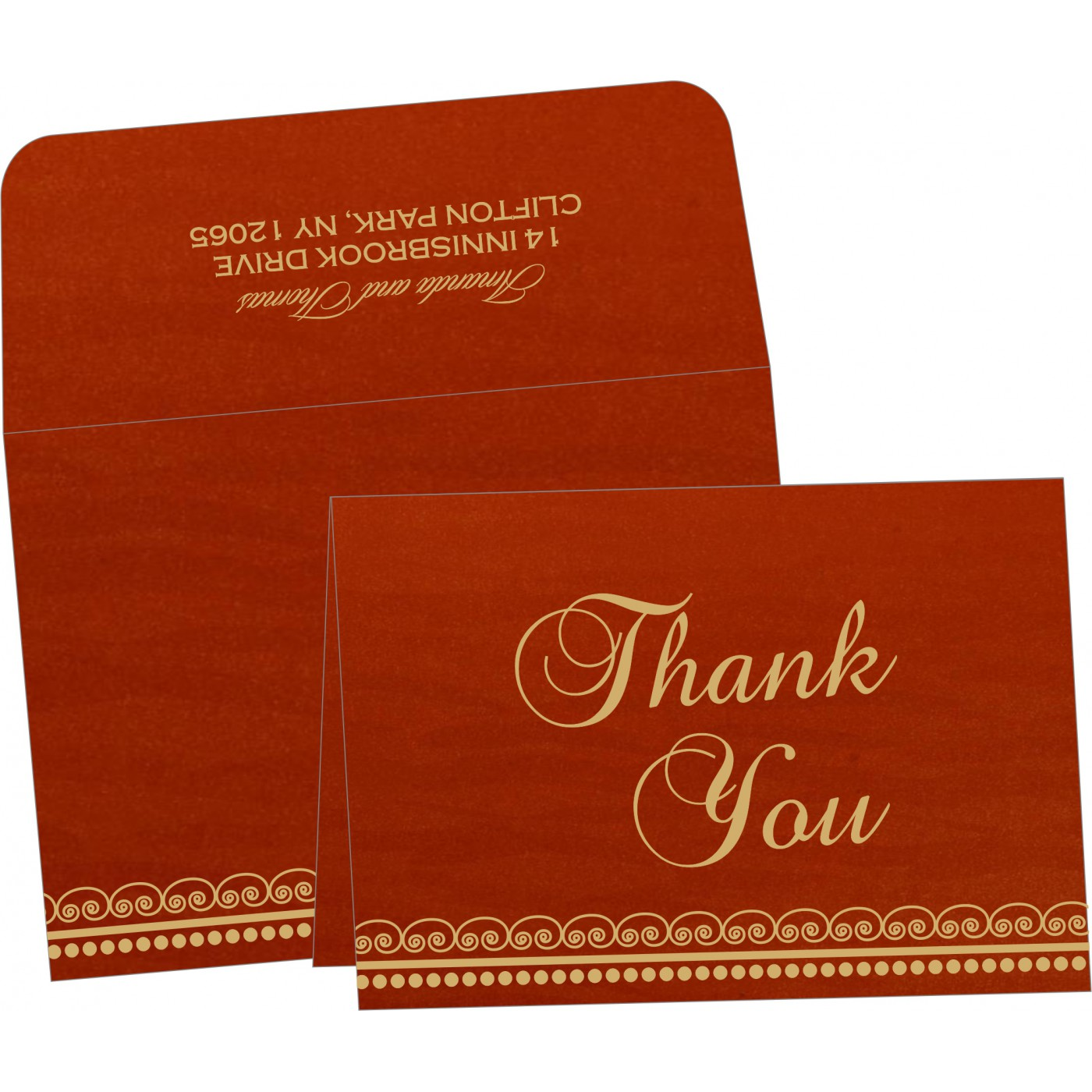 Thank You Cards : CTYC-5009B - IndianWeddingCards
