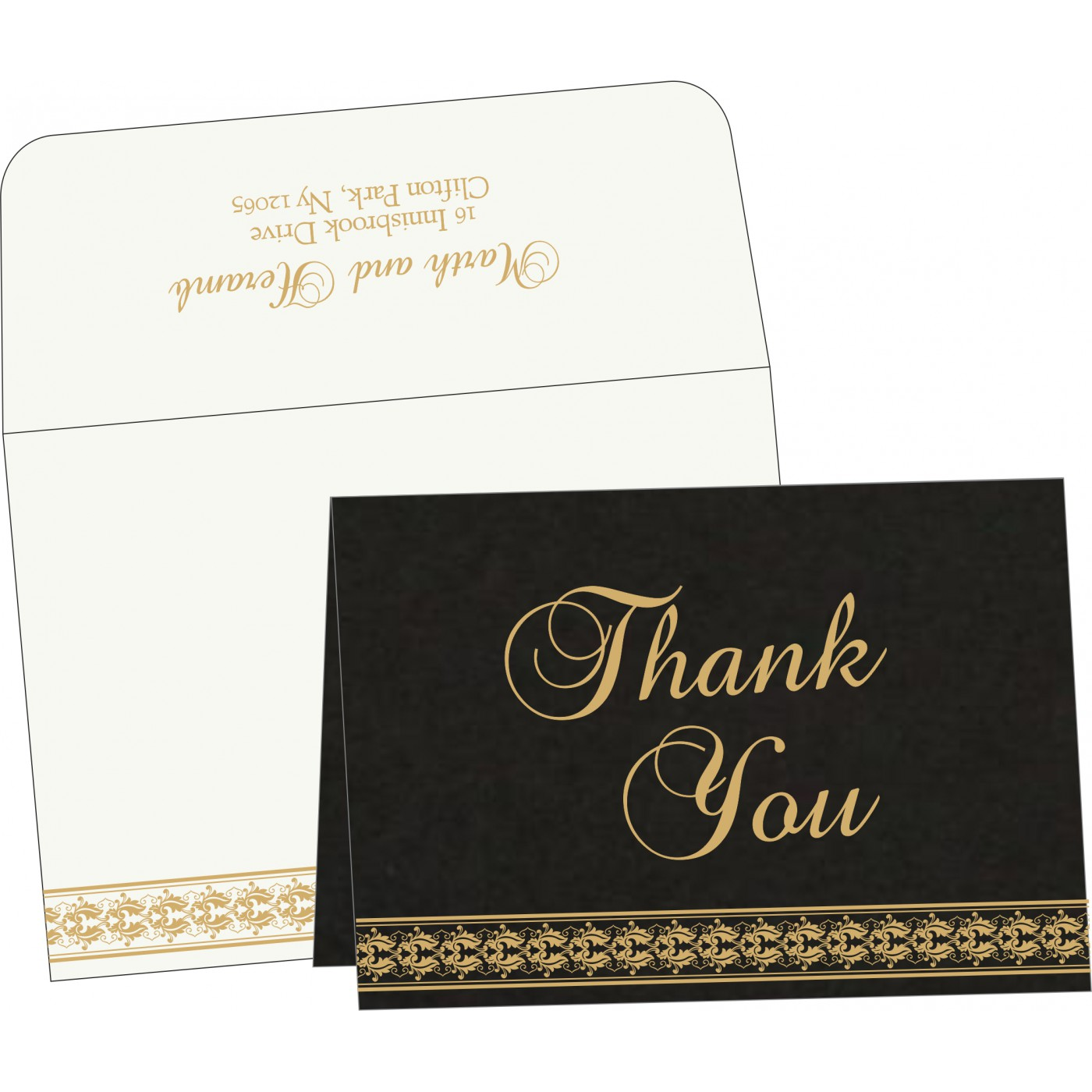 Thank You Cards : CTYC-5010H - IndianWeddingCards