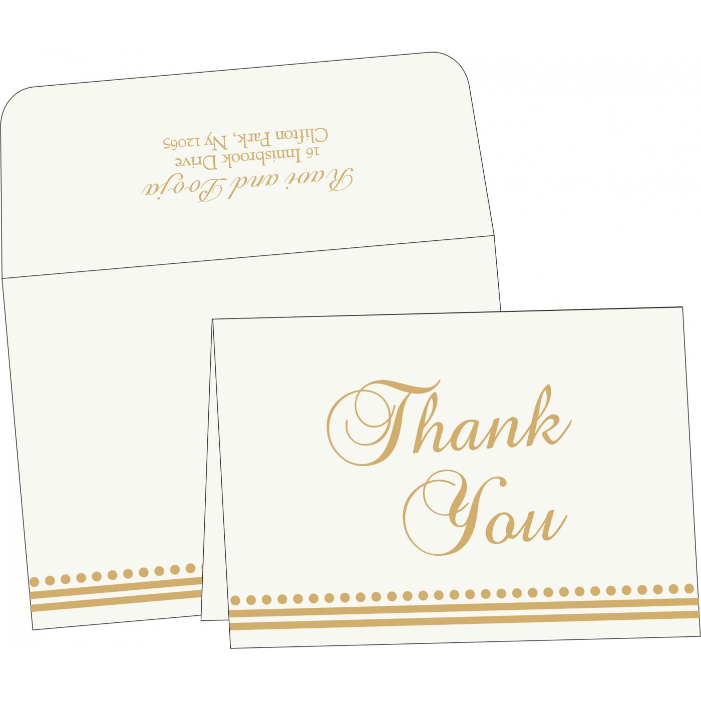 Thank You Cards : CTYC-5011I - IndianWeddingCards