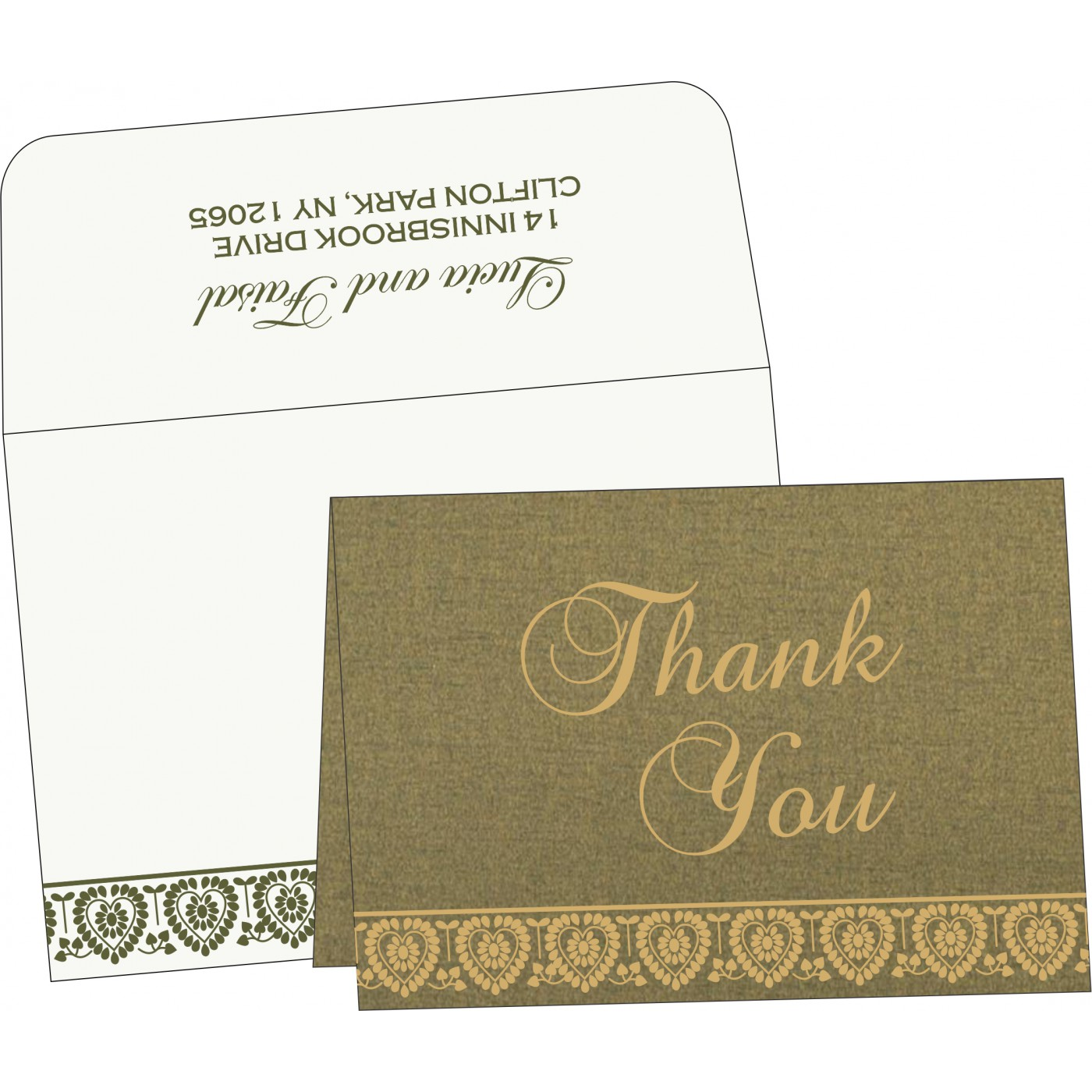 Thank You Cards : CTYC-5012A - IndianWeddingCards