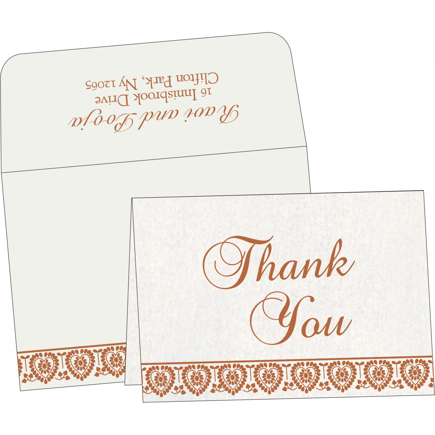 Thank You Cards : CTYC-5012D - IndianWeddingCards