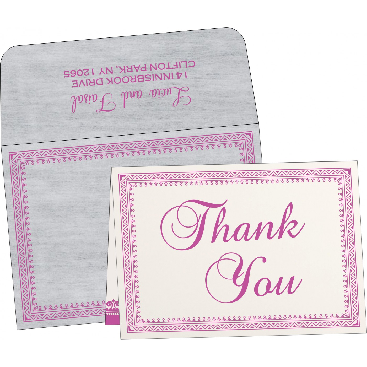 Thank You Cards : CTYC-8205A - IndianWeddingCards