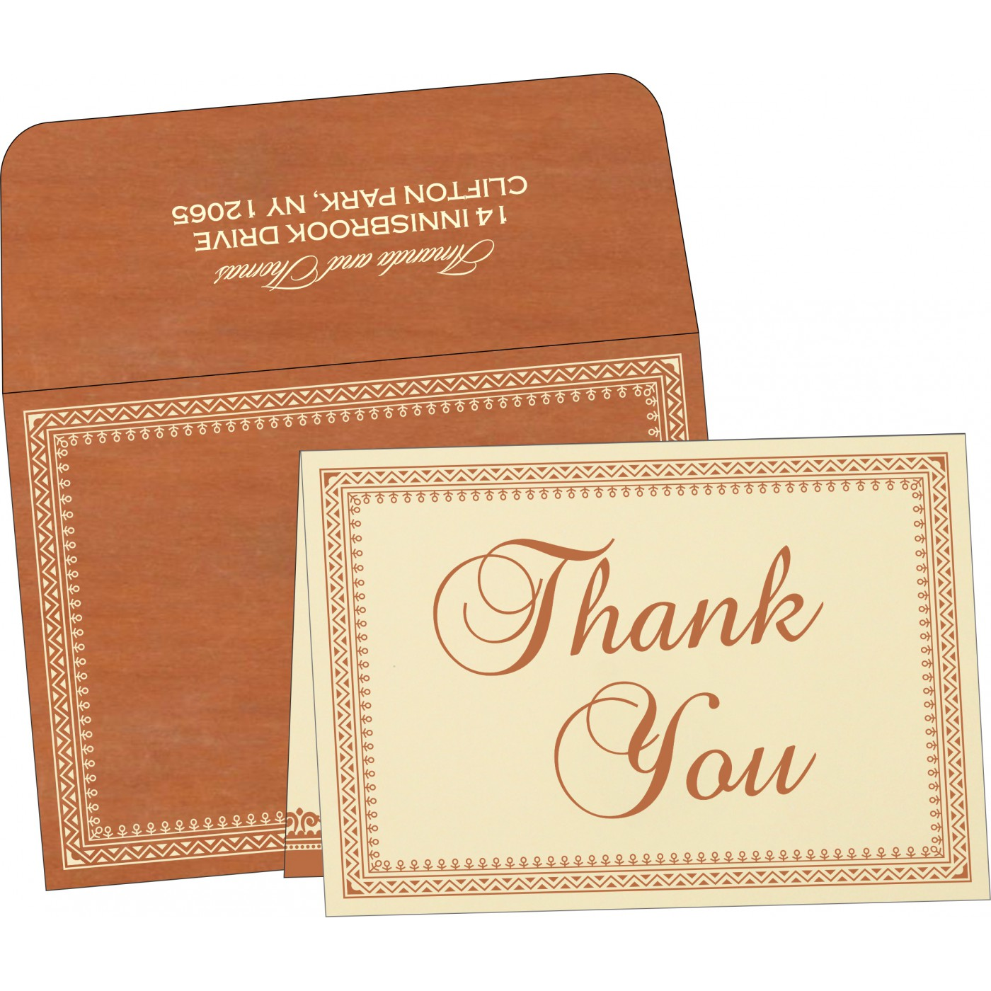 Thank You Cards : CTYC-8205C - IndianWeddingCards