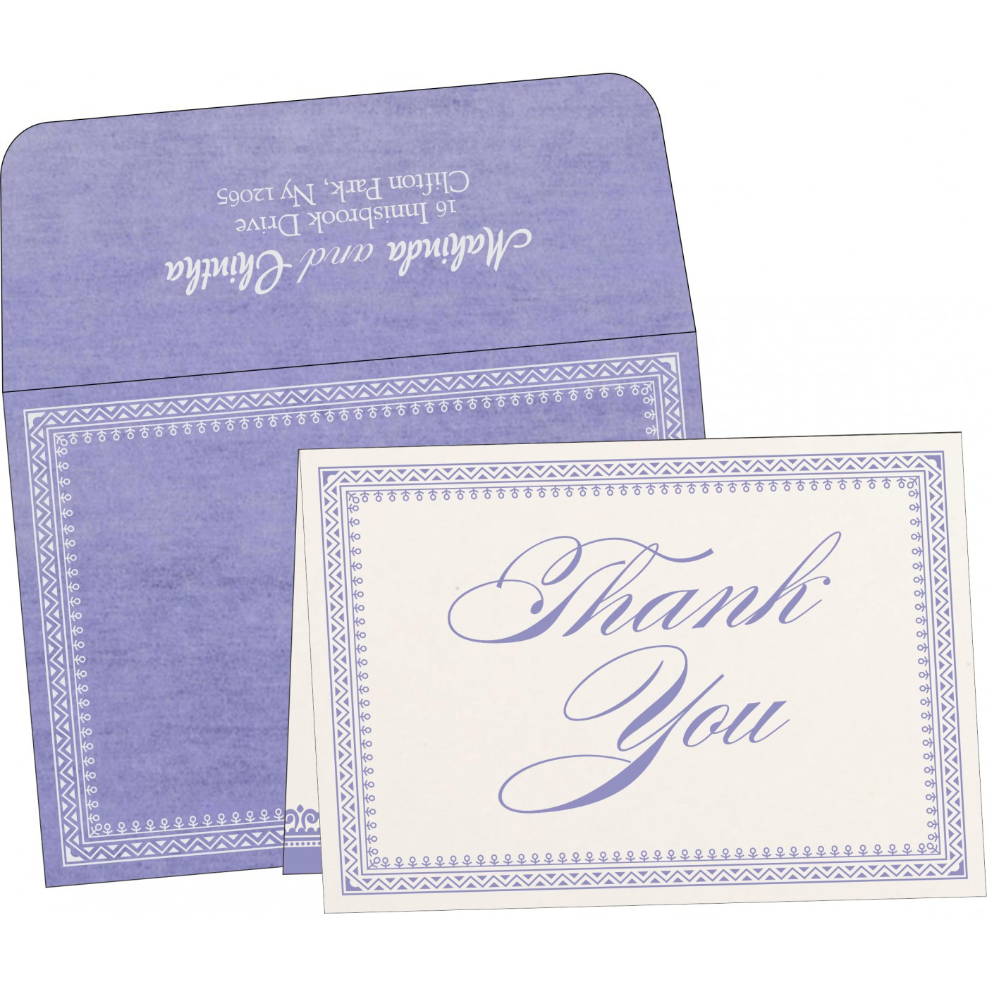 Thank You Cards : CTYC-8205F - IndianWeddingCards