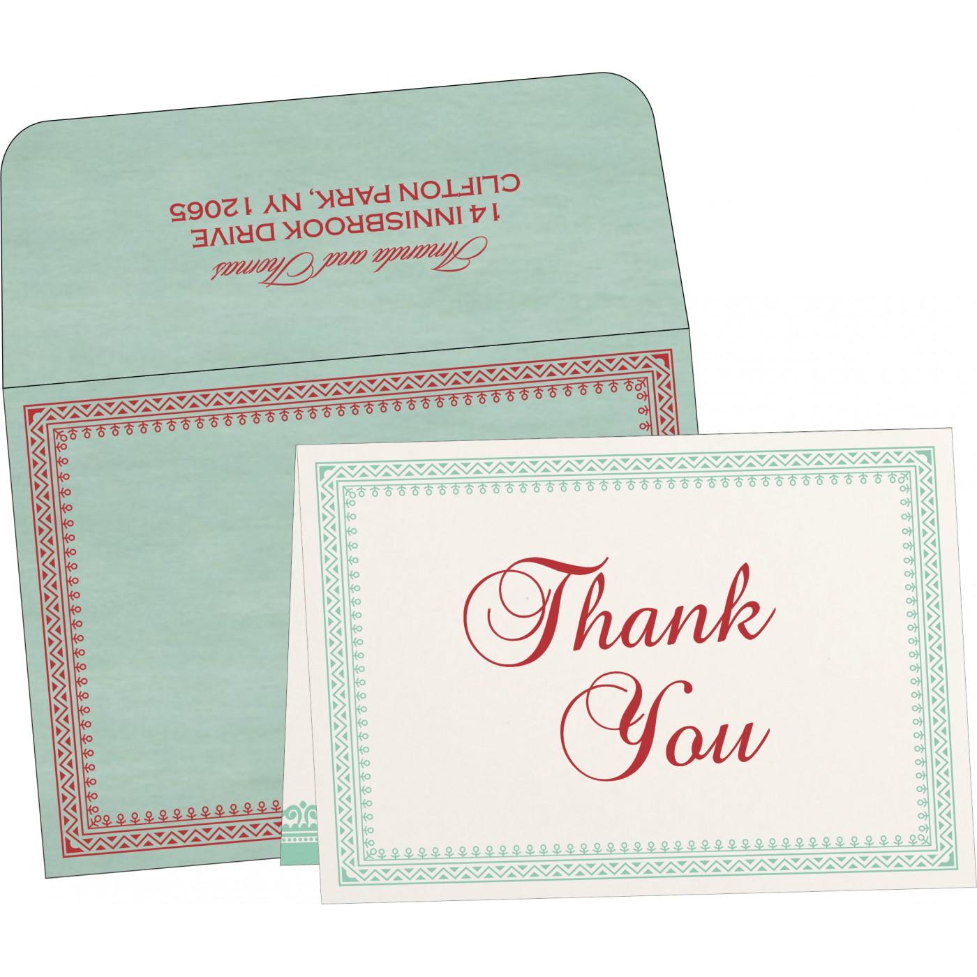 Thank You Cards : CTYC-8205N - IndianWeddingCards