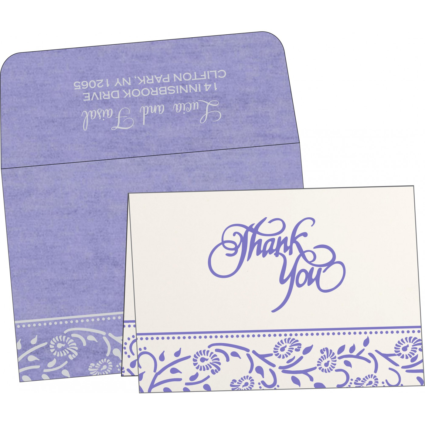 Thank You Cards : CTYC-8206A - IndianWeddingCards