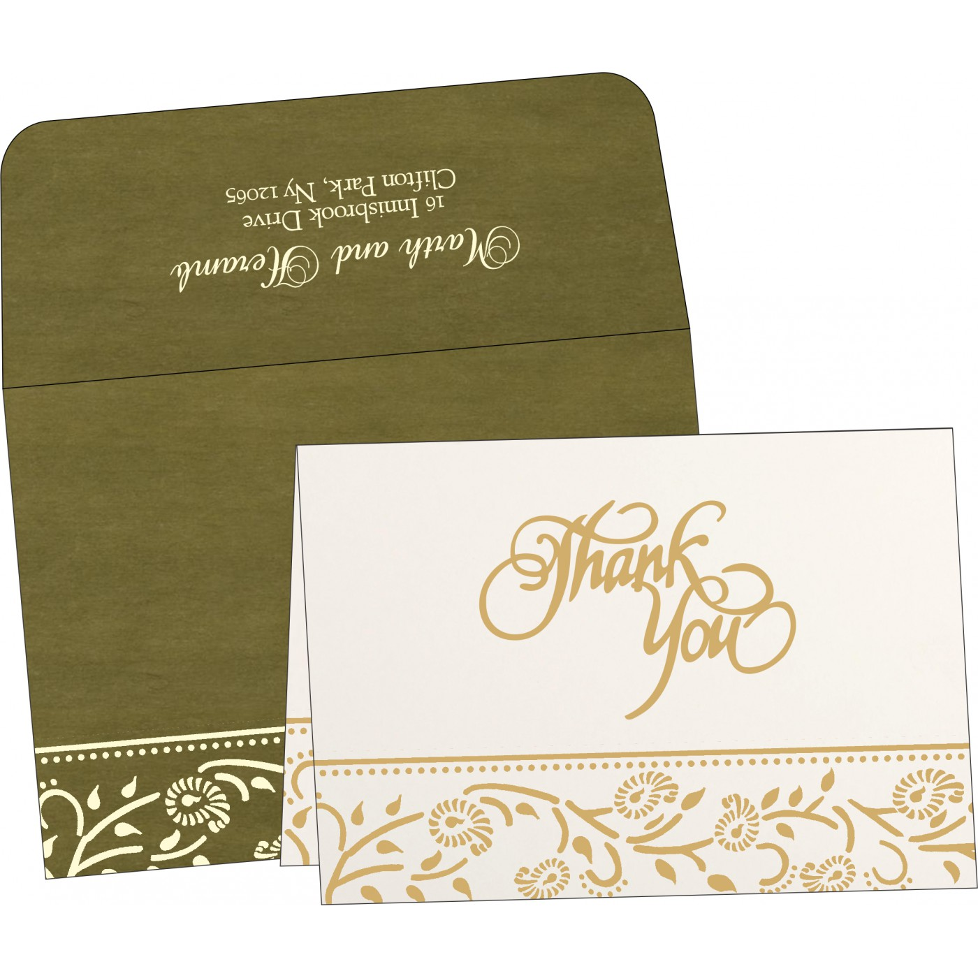 Thank You Cards : CTYC-8206D - IndianWeddingCards