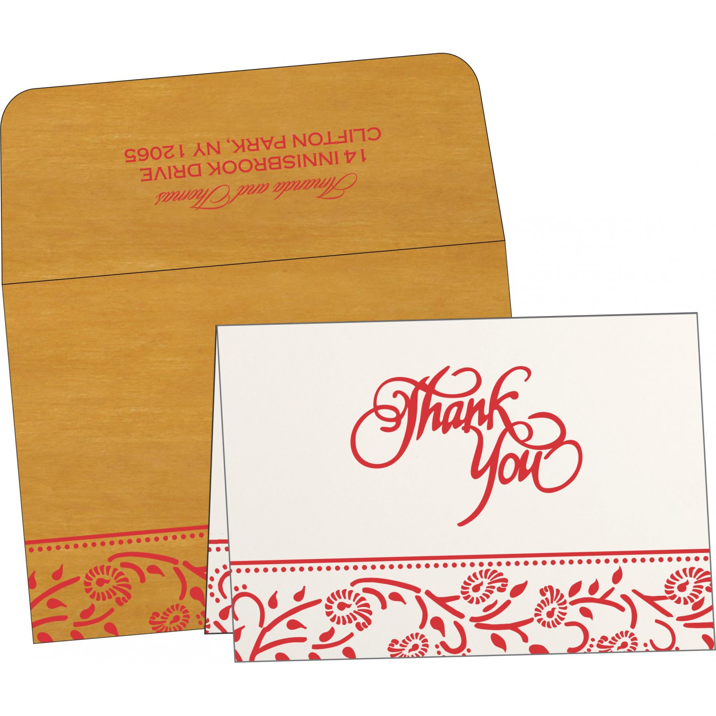 Thank You Cards : CTYC-8206H - IndianWeddingCards