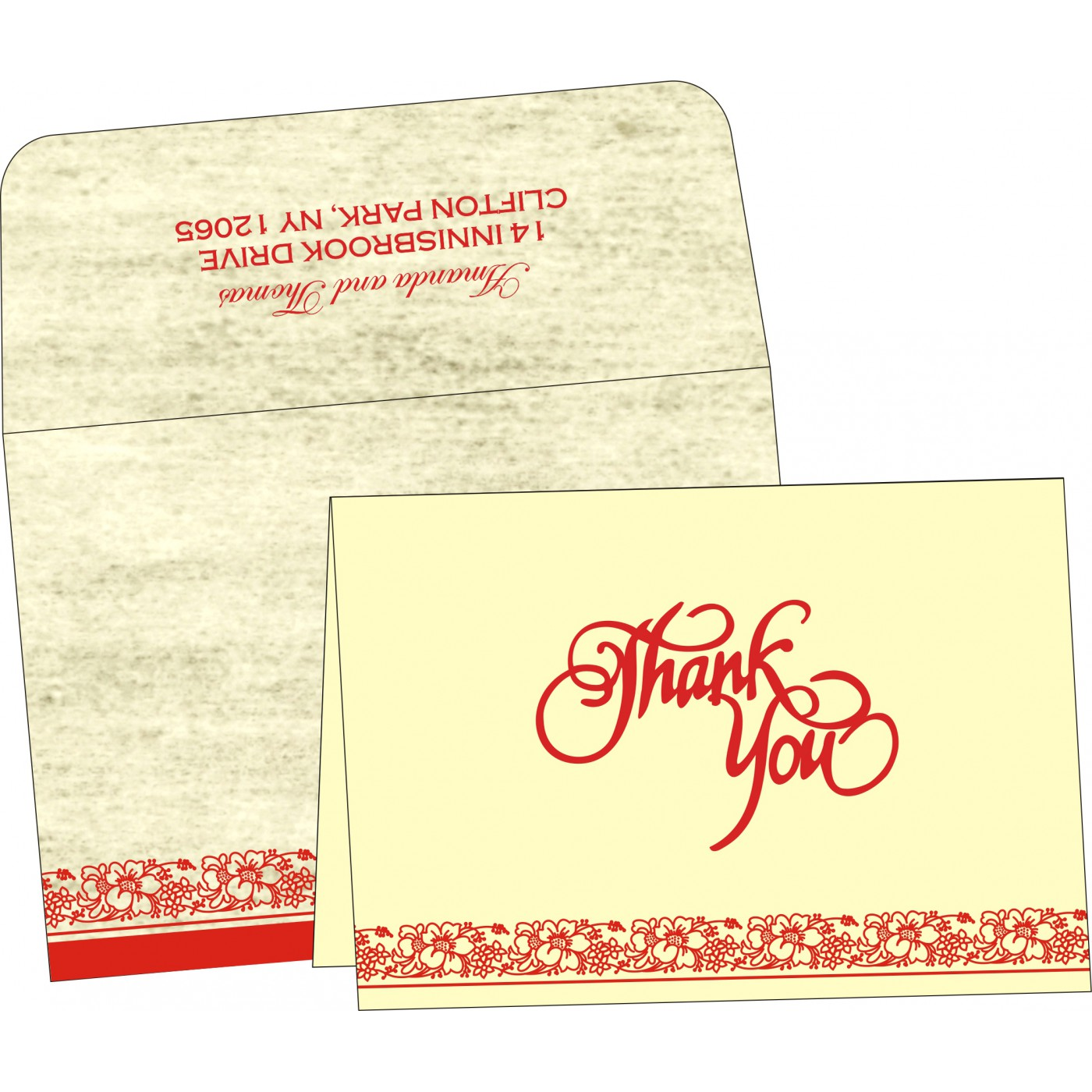 Thank You Cards : CTYC-8207A - IndianWeddingCards
