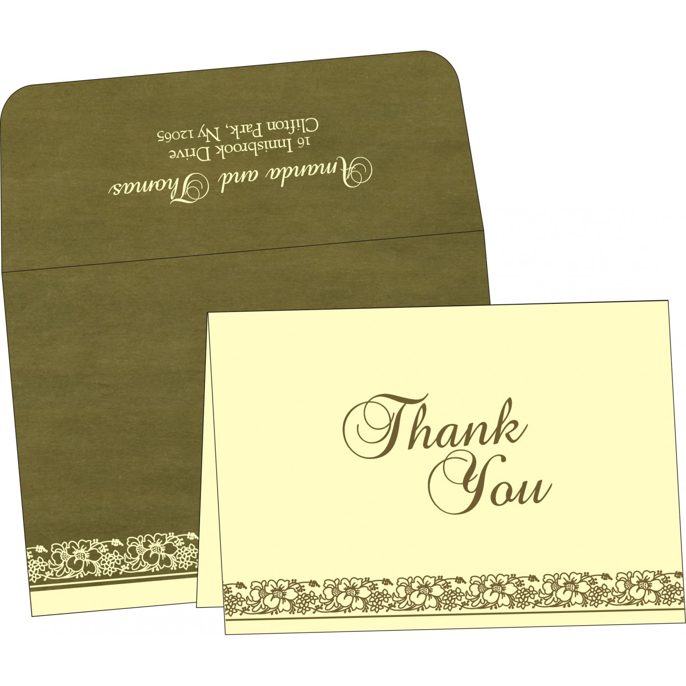 Thank You Cards : CTYC-8207H - IndianWeddingCards