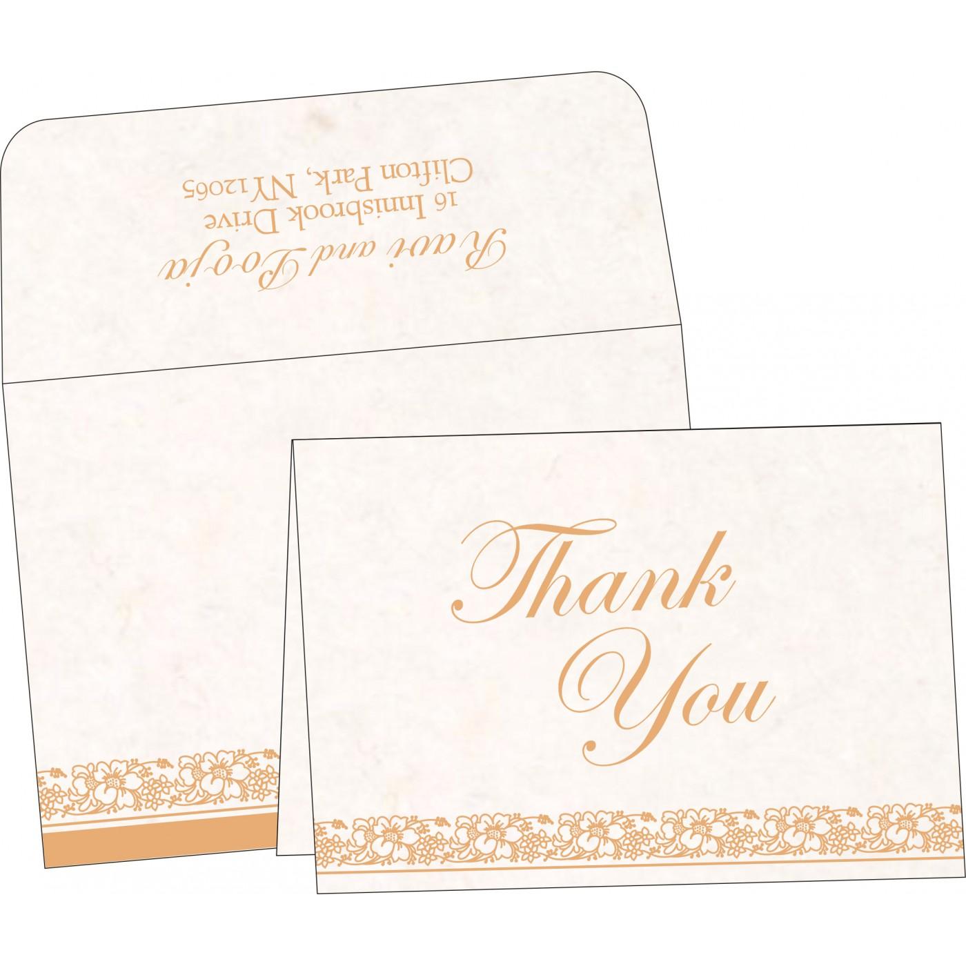 Thank You Cards : CTYC-8207I - IndianWeddingCards