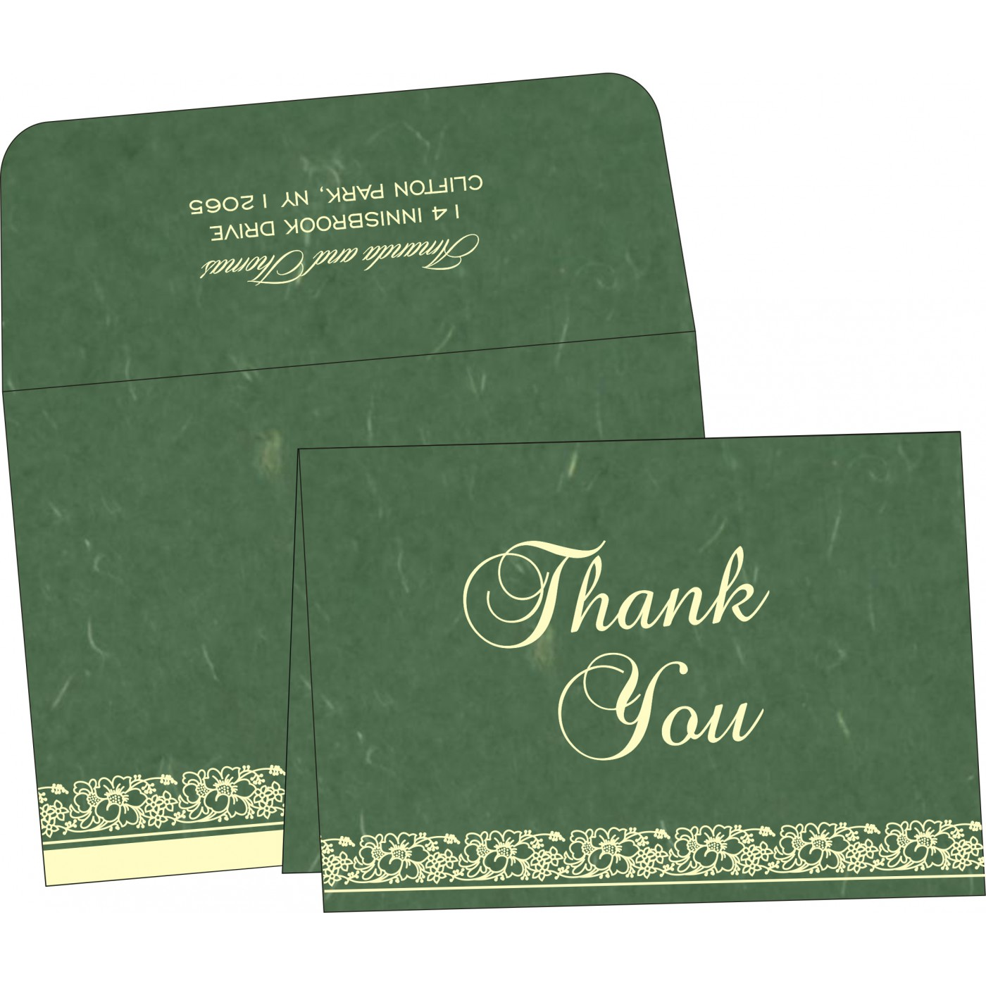 Thank You Cards : CTYC-8207L - IndianWeddingCards