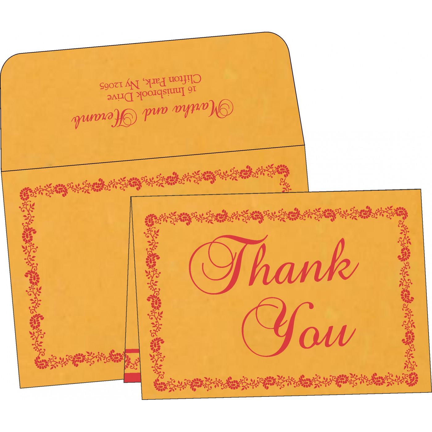 Thank You Cards : CTYC-8208C - IndianWeddingCards