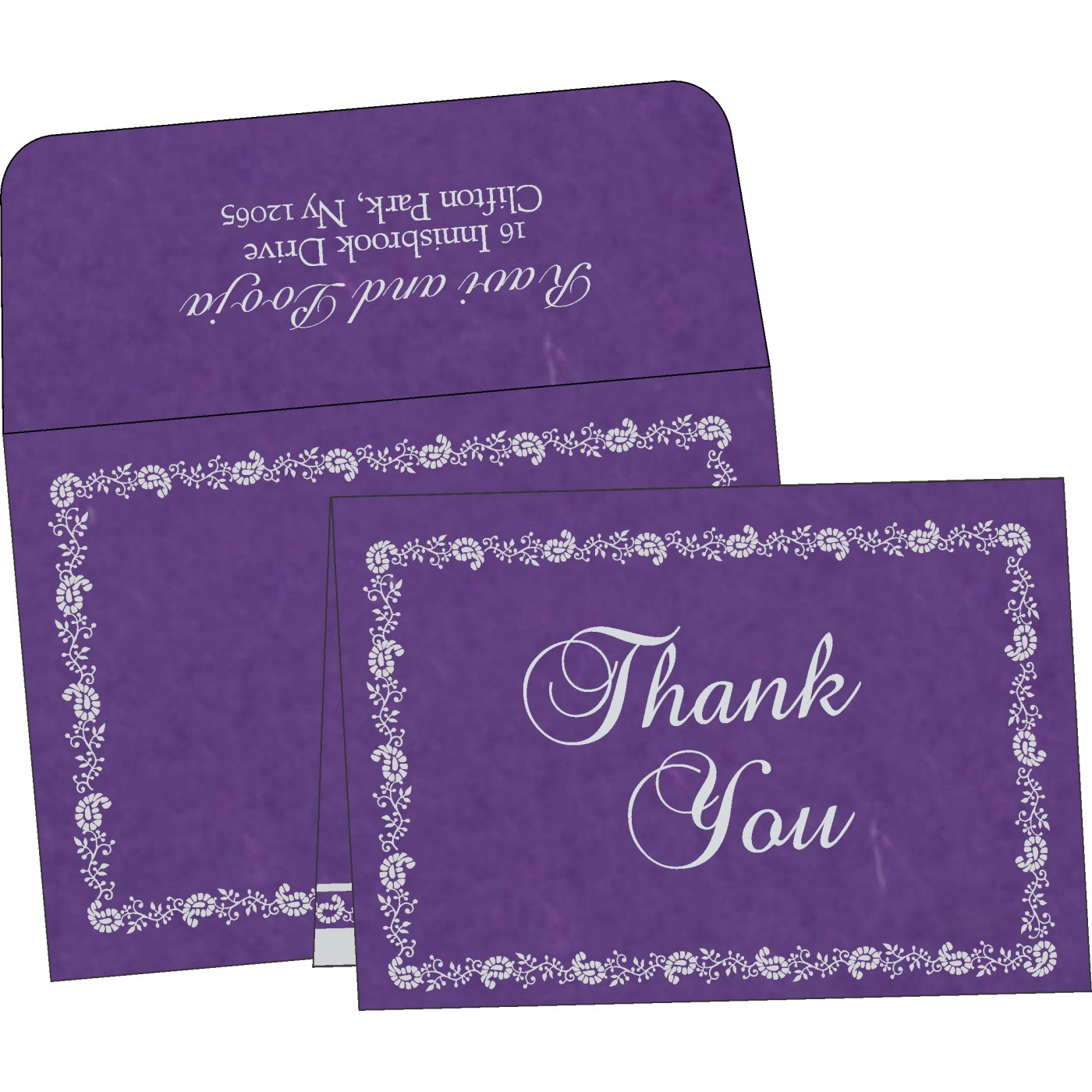 Thank You Cards : CTYC-8208D - IndianWeddingCards