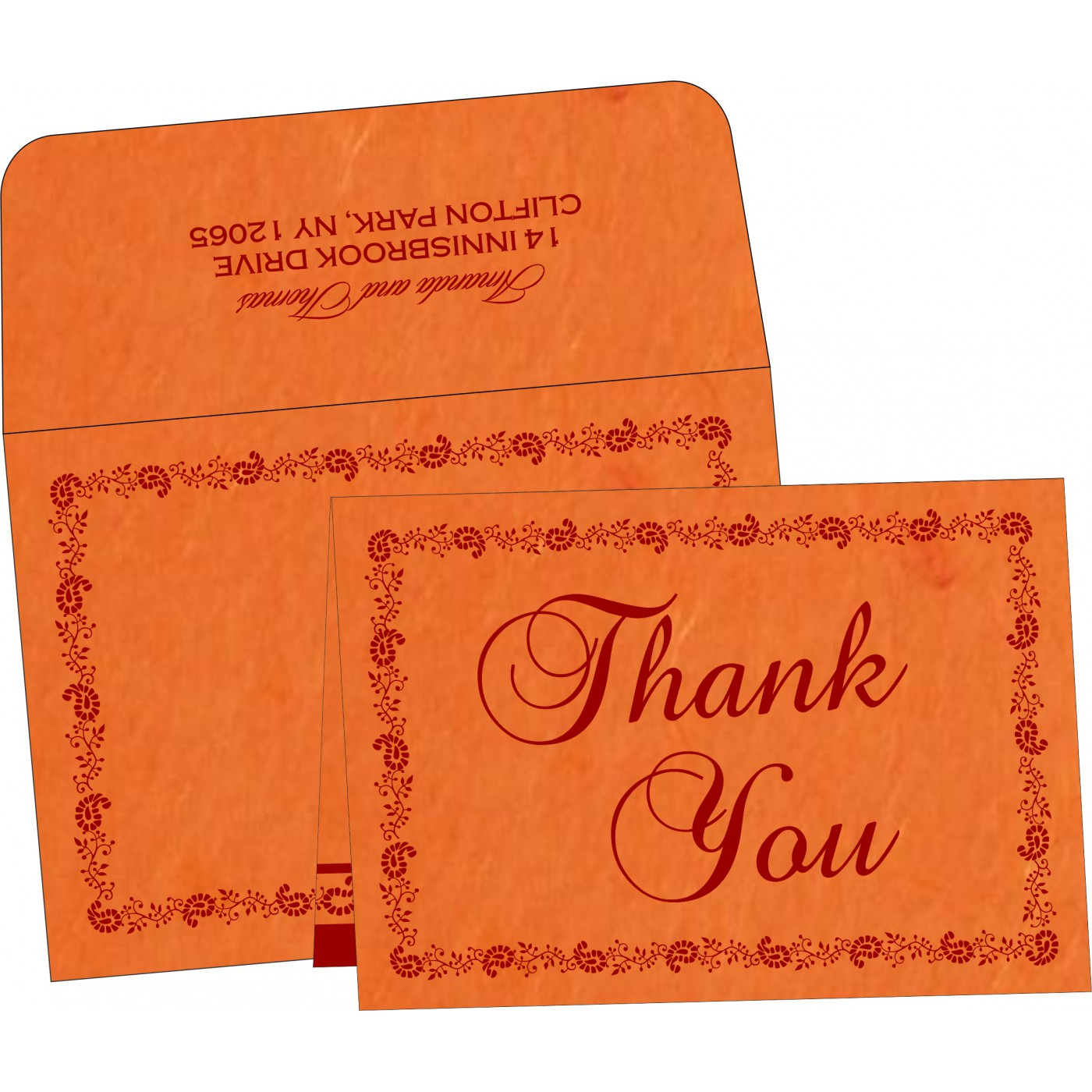 Thank You Cards : CTYC-8208G - IndianWeddingCards
