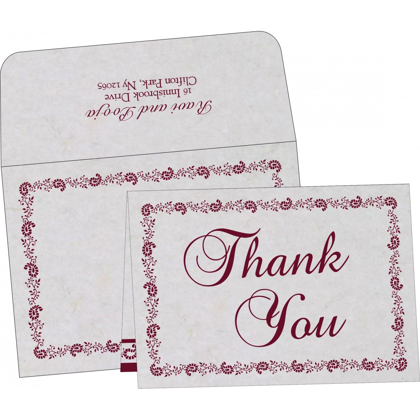 Thank You Cards : CTYC-8208I - IndianWeddingCards