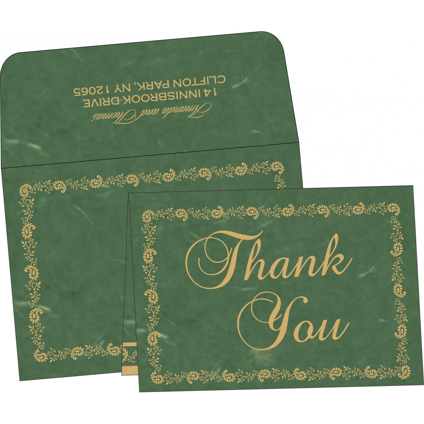 Thank You Cards : CTYC-8208L - IndianWeddingCards