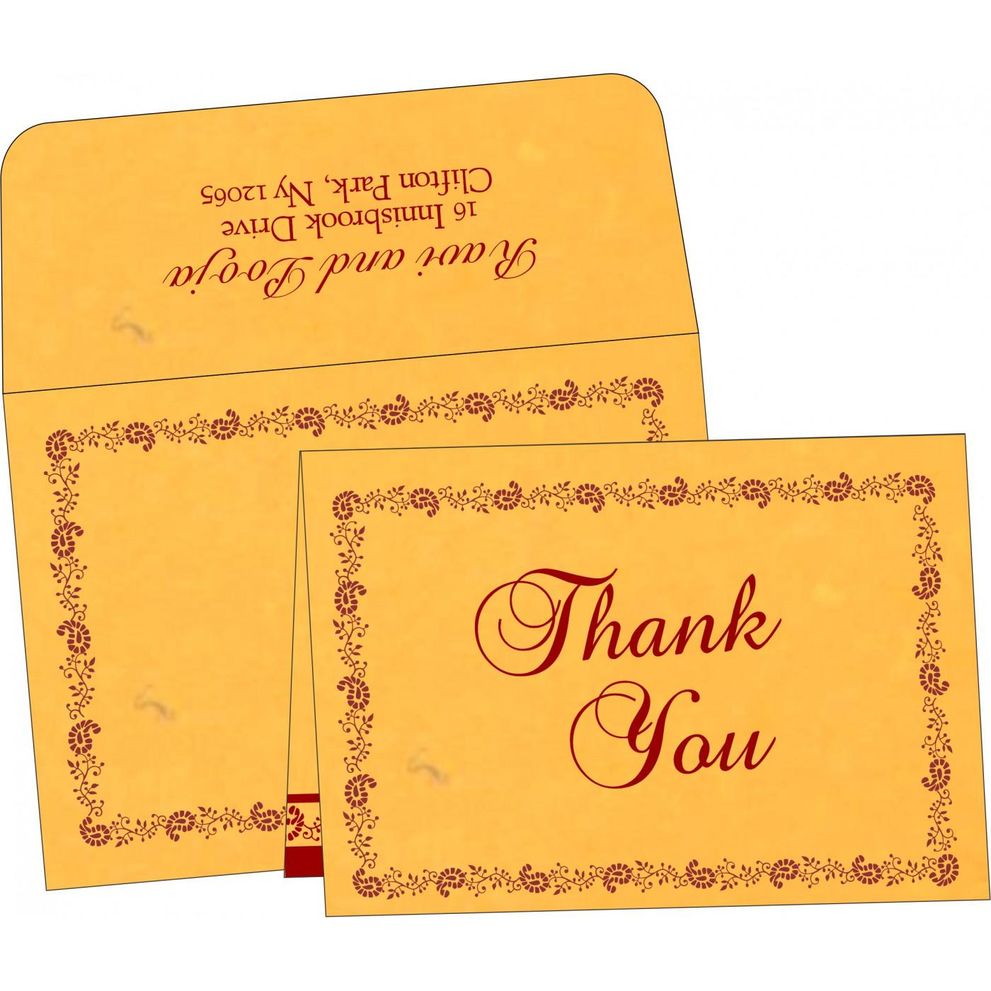 Thank You Cards : CTYC-8208N - IndianWeddingCards