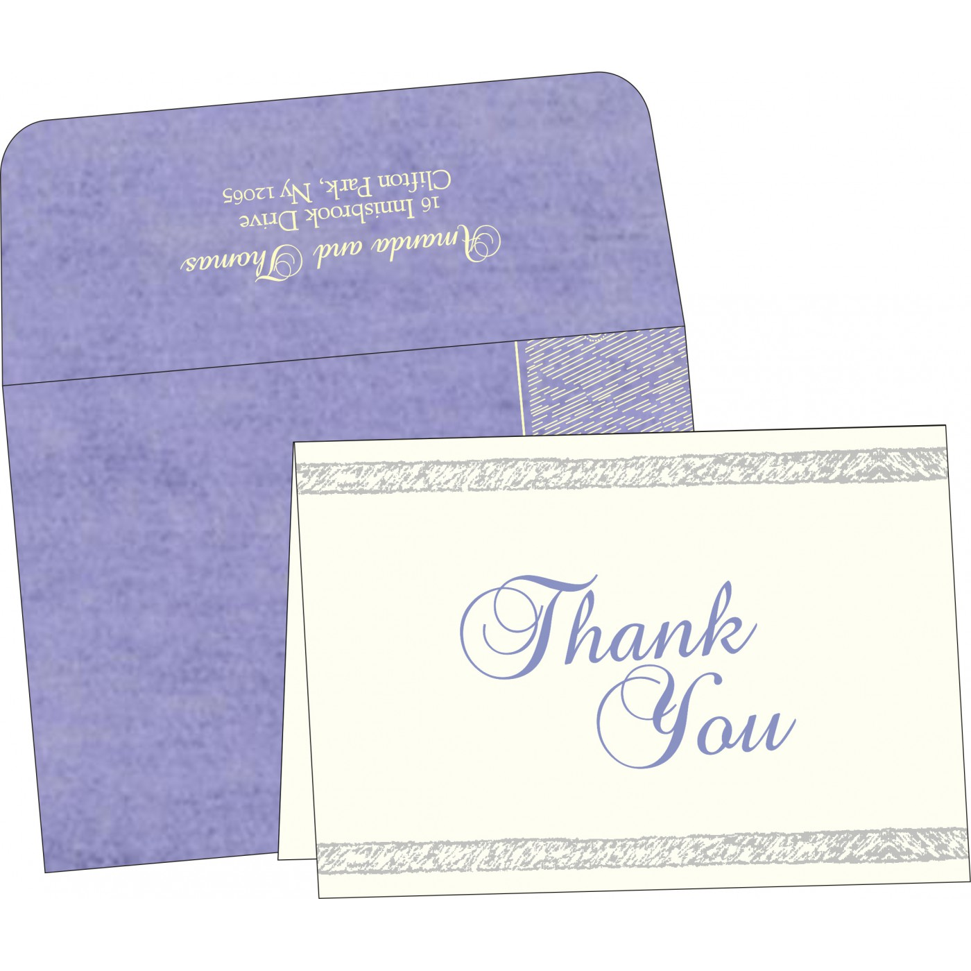 Thank You Cards : CTYC-8209C - IndianWeddingCards