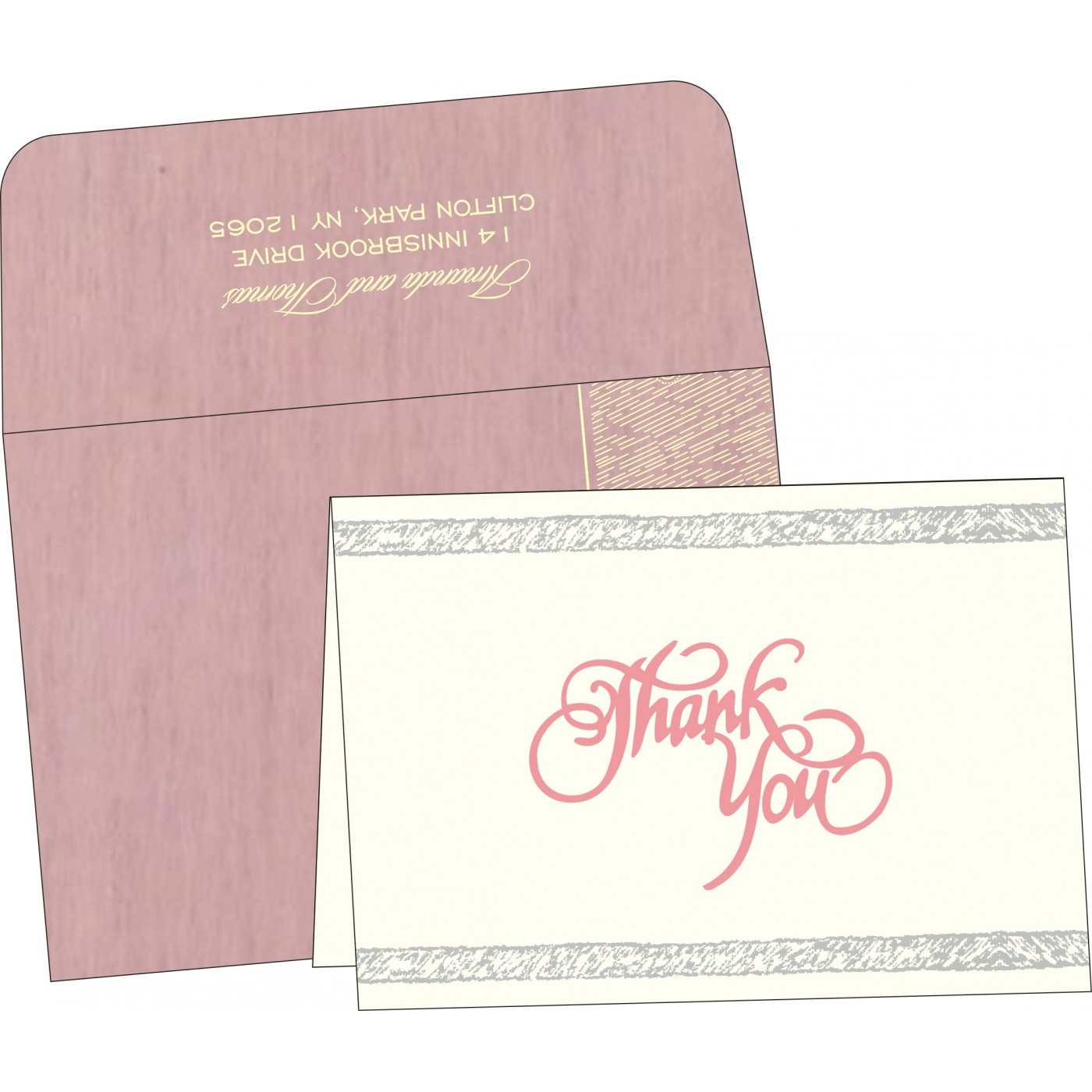 Thank You Cards : CTYC-8209H - IndianWeddingCards