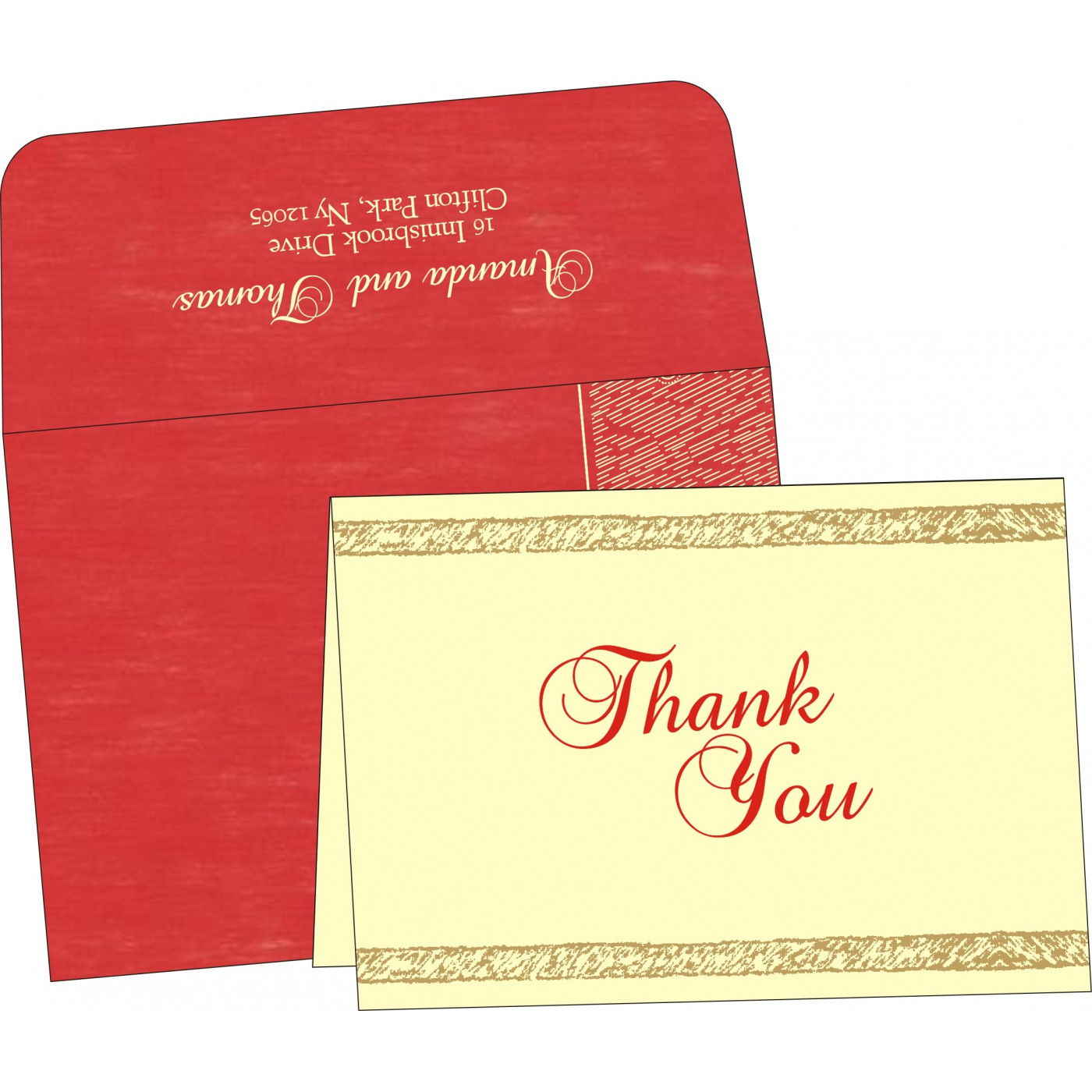 Thank You Cards : CTYC-8209I - IndianWeddingCards