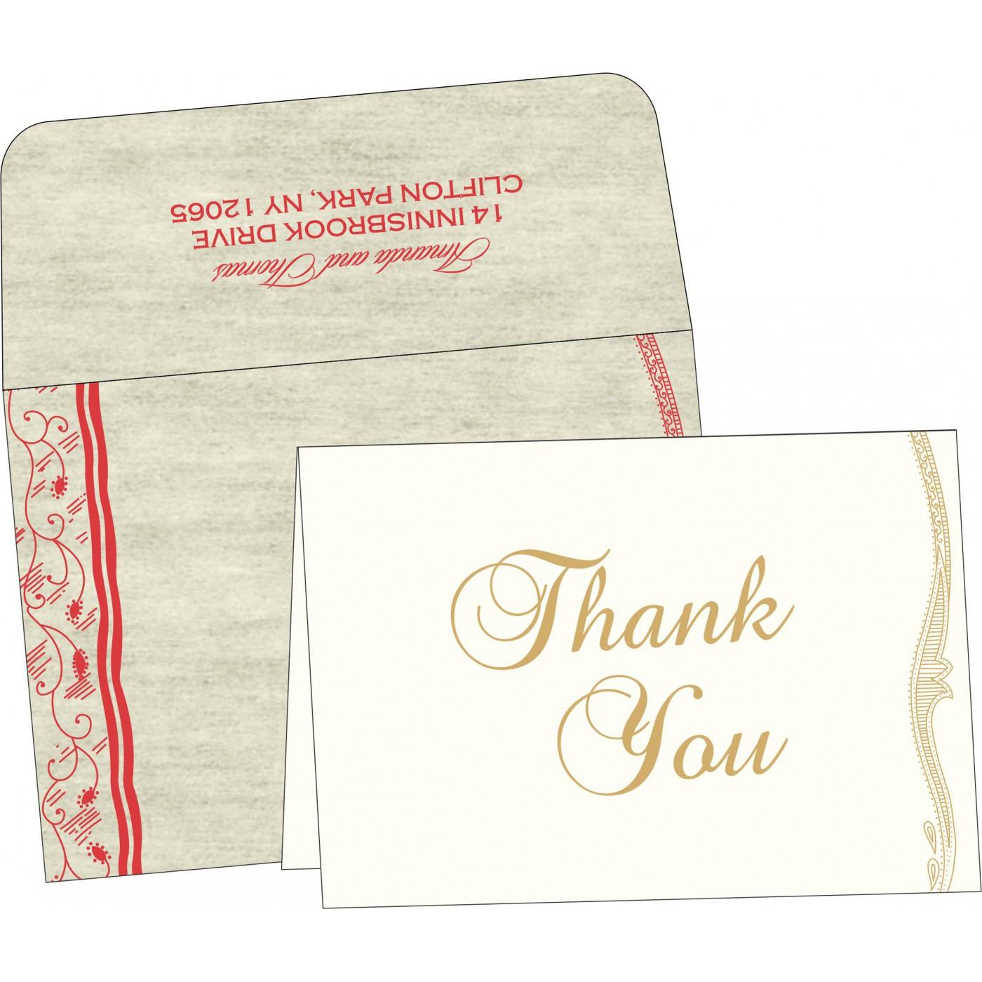 Thank You Cards : CTYC-8210C - IndianWeddingCards