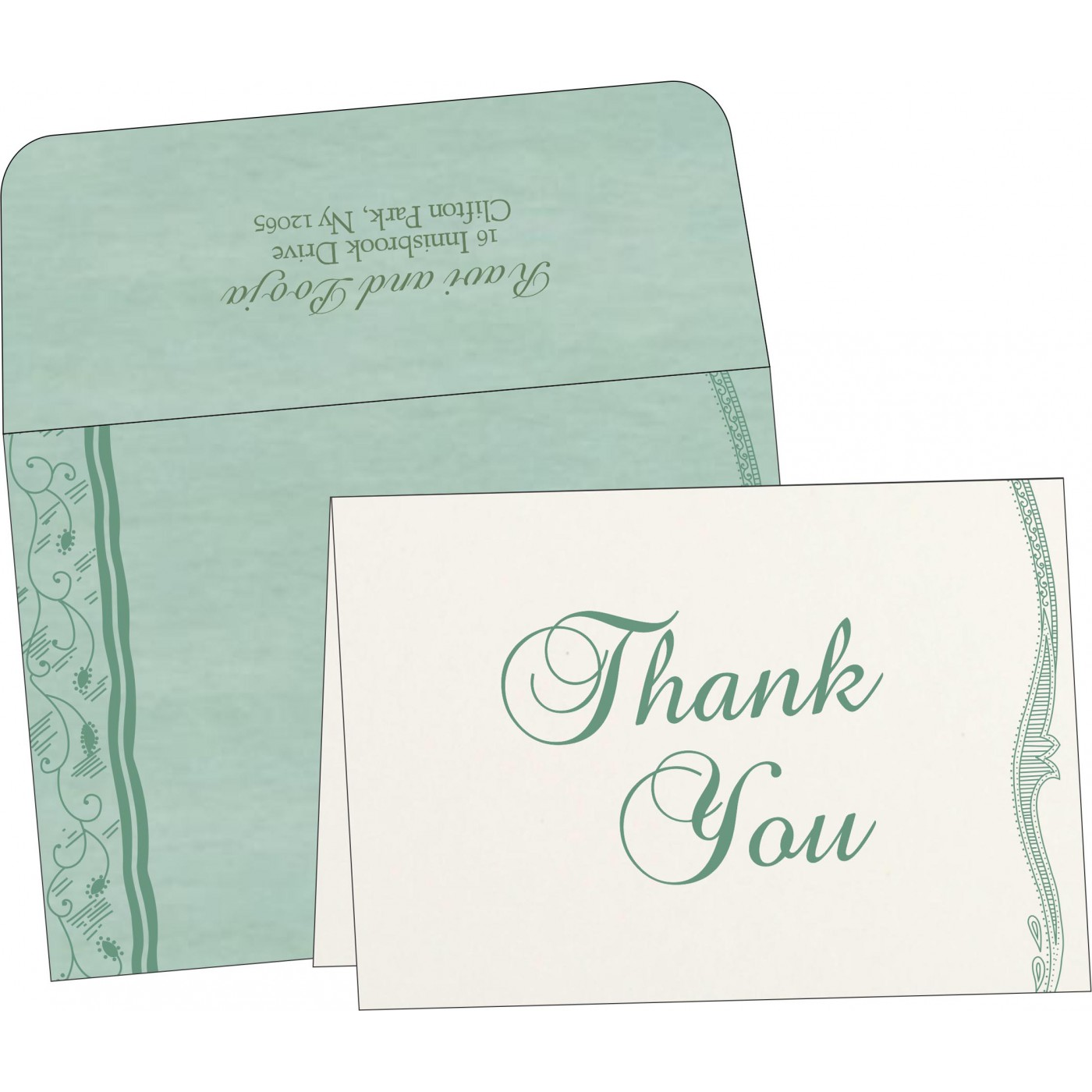 Thank You Cards : CTYC-8210E - IndianWeddingCards