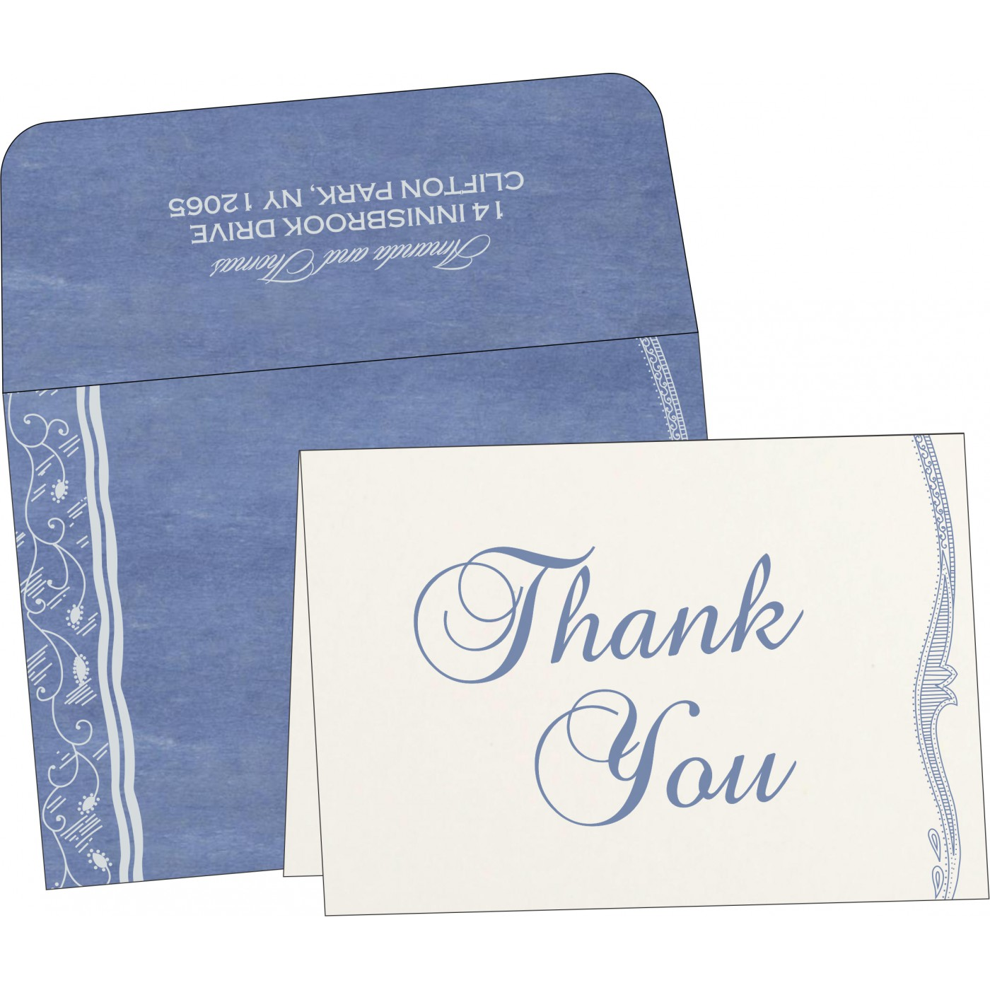 Thank You Cards : CTYC-8210H - IndianWeddingCards