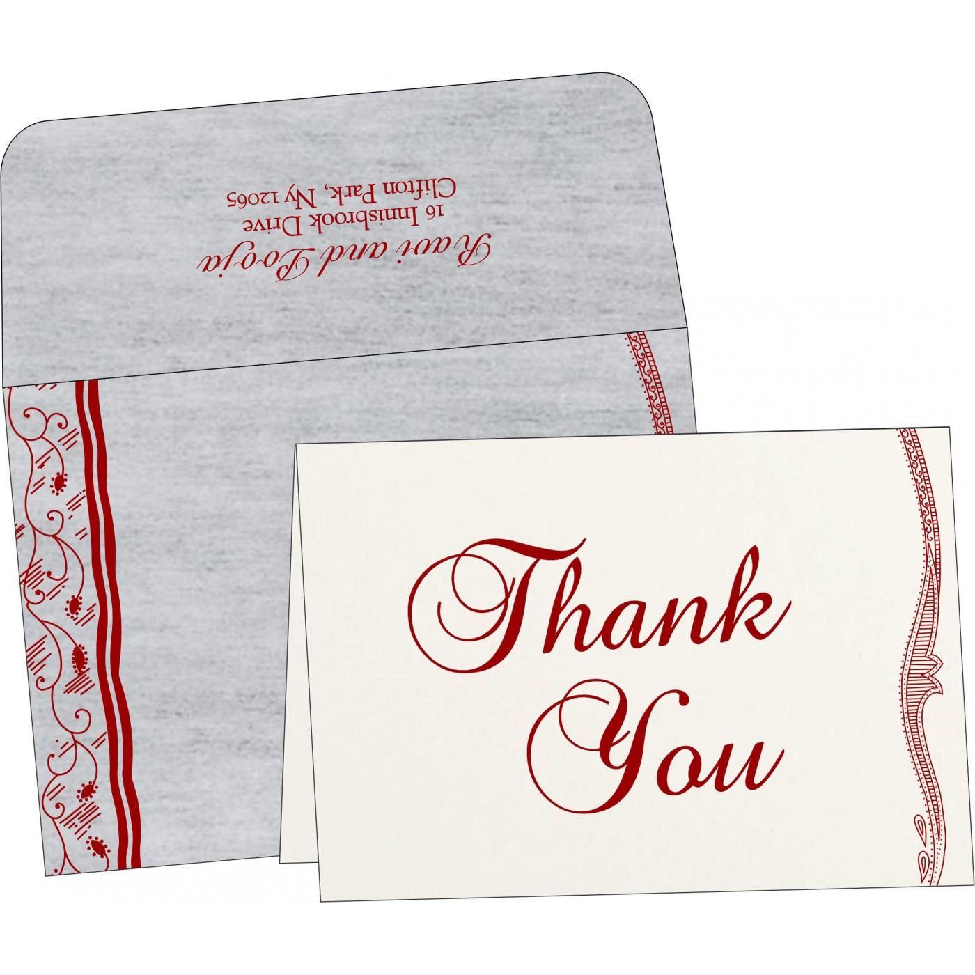 Thank You Cards : CTYC-8210J - IndianWeddingCards