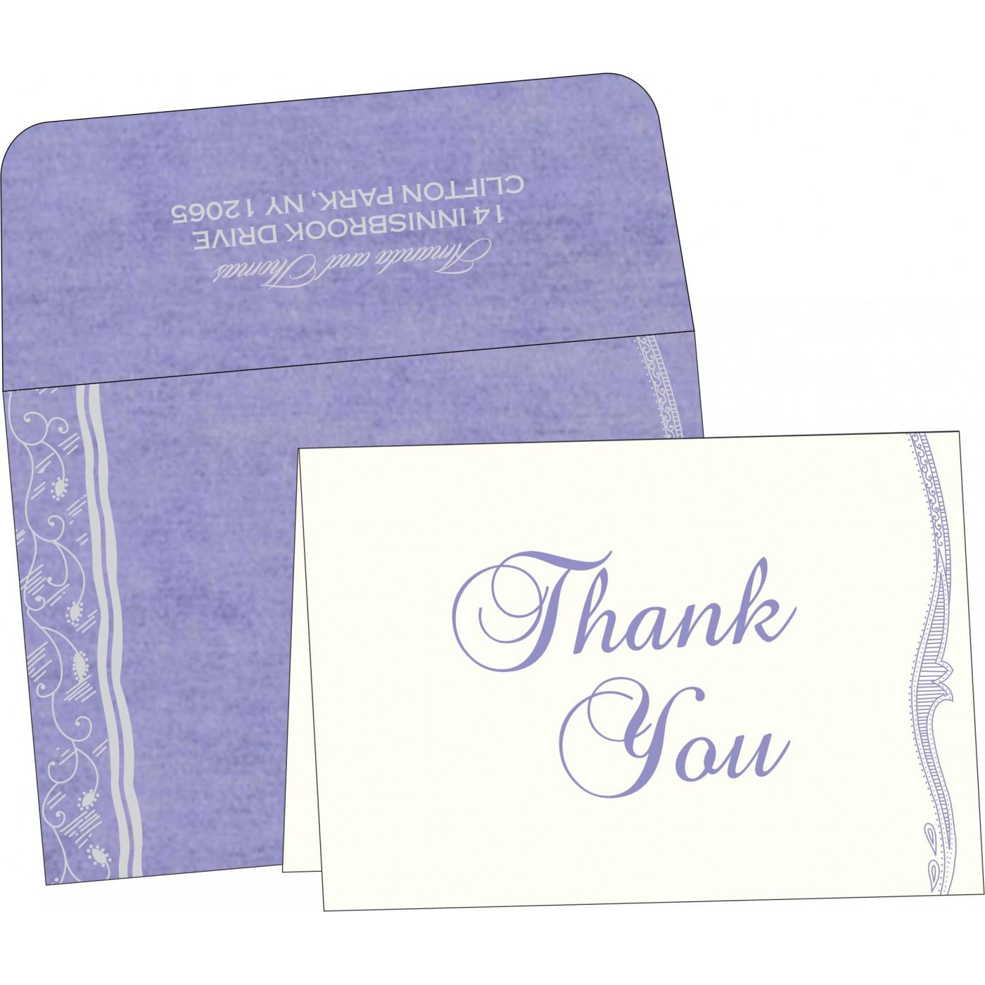 Thank You Cards : CTYC-8210N - IndianWeddingCards