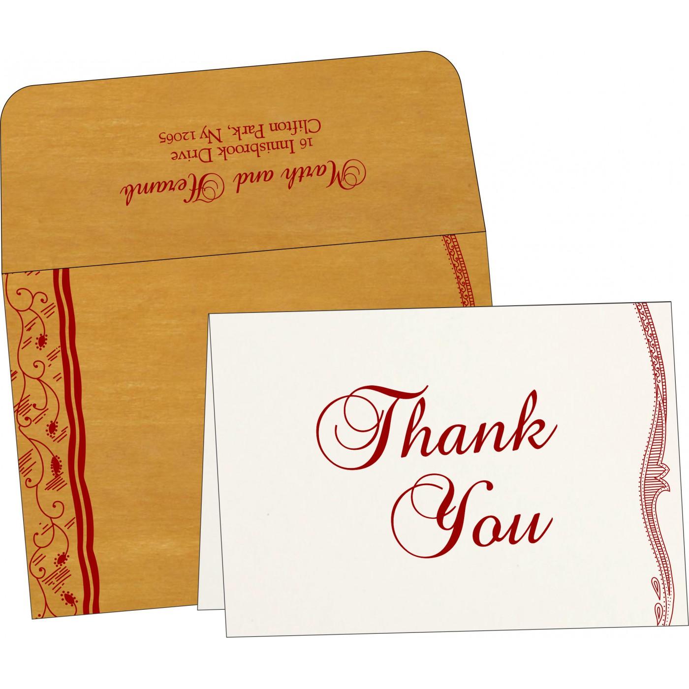 Thank You Cards : CTYC-8210O - IndianWeddingCards